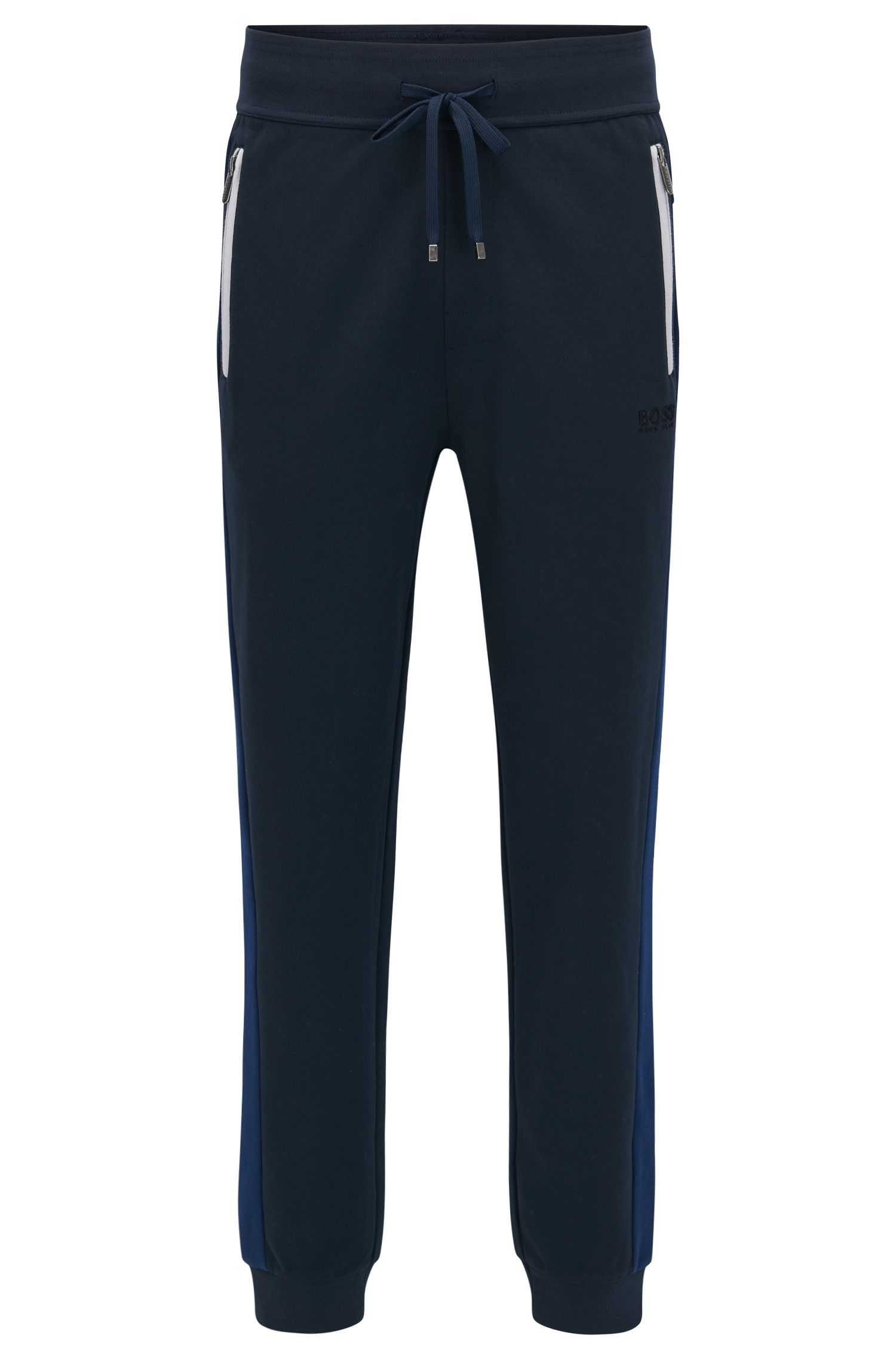 Cuffed jogging bottoms in a cotton-blend pique with contrast accents