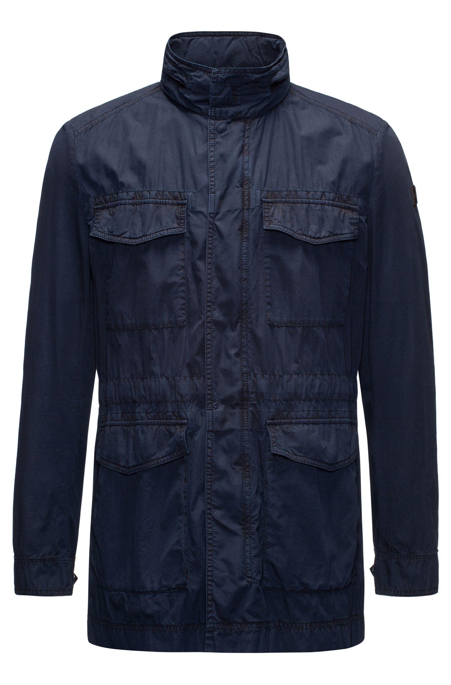 Field jacket leggera in cotone mercerizzato realizzato in Italia