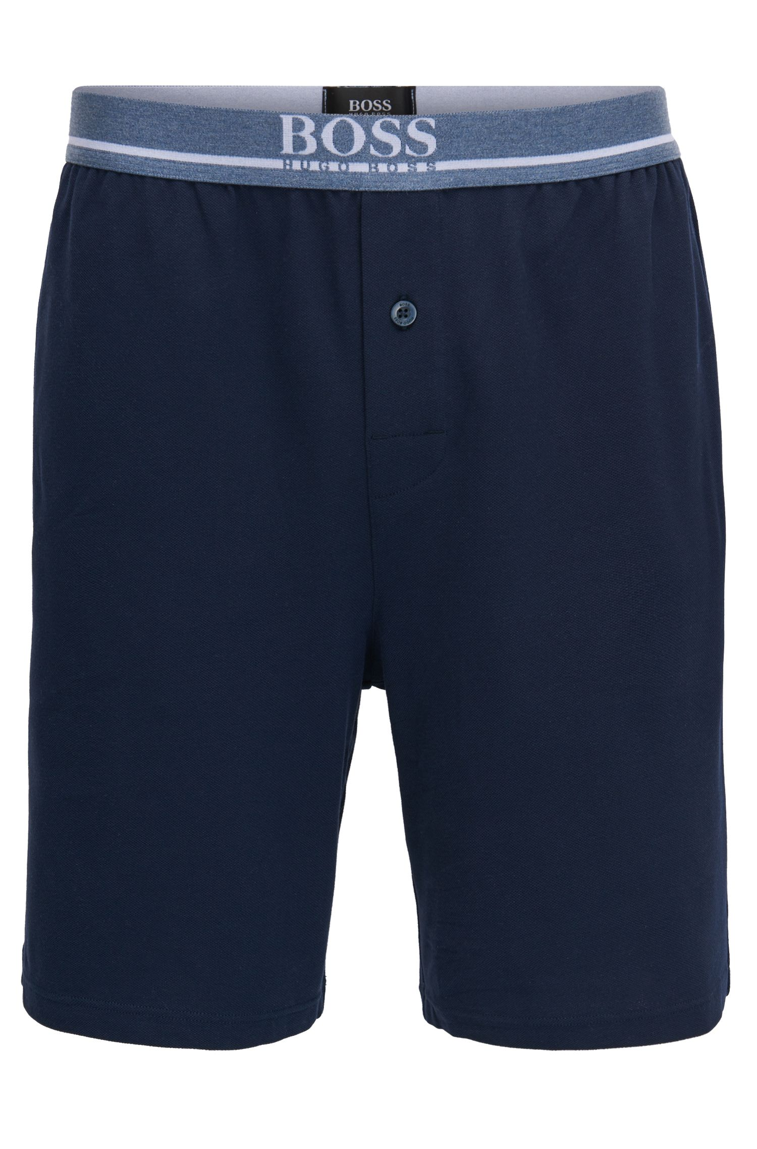 Stretch-cotton piqué loungewear shorts