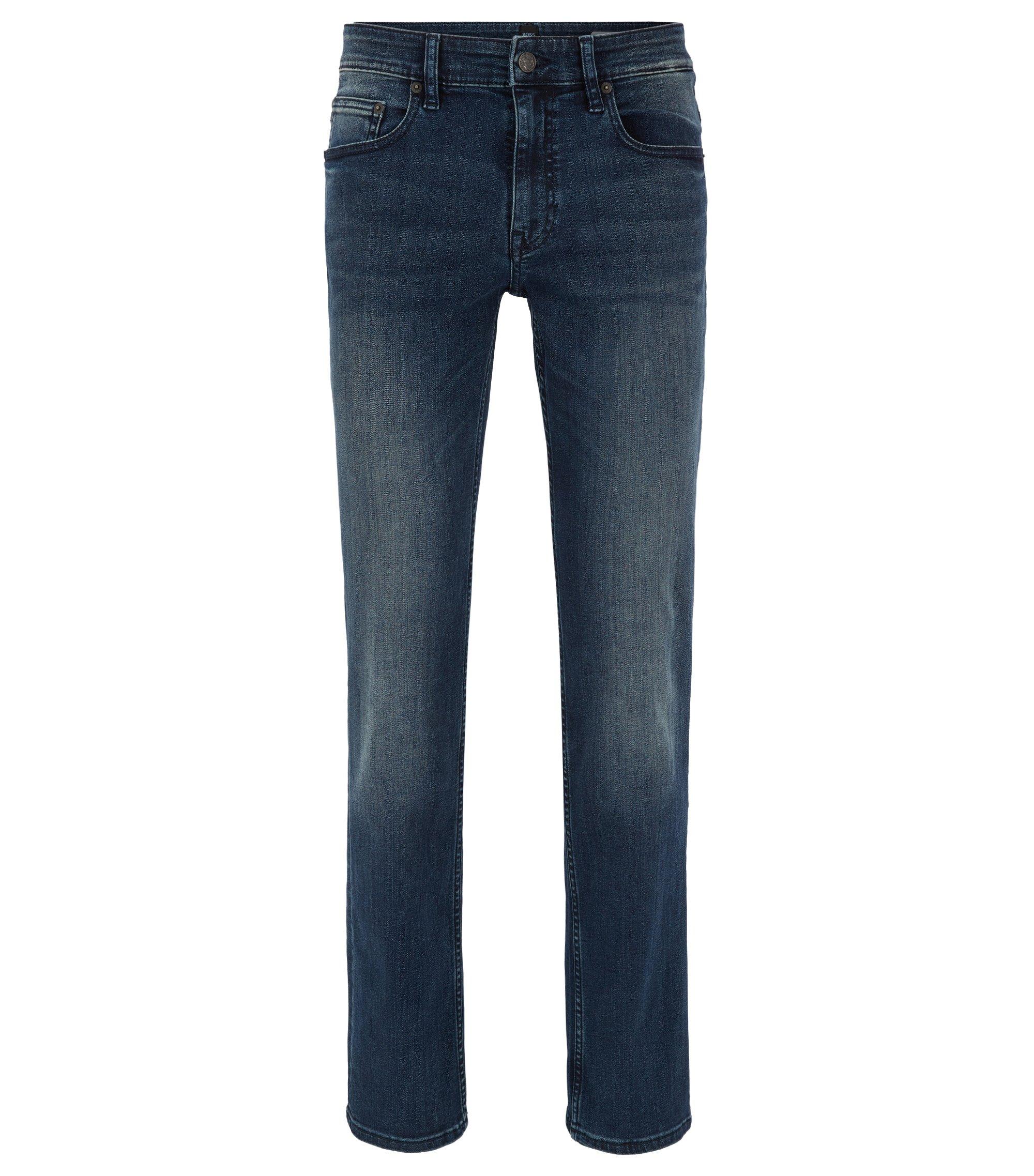 Slim-Fit Jeans aus Stretch-Denim , Dunkelblau