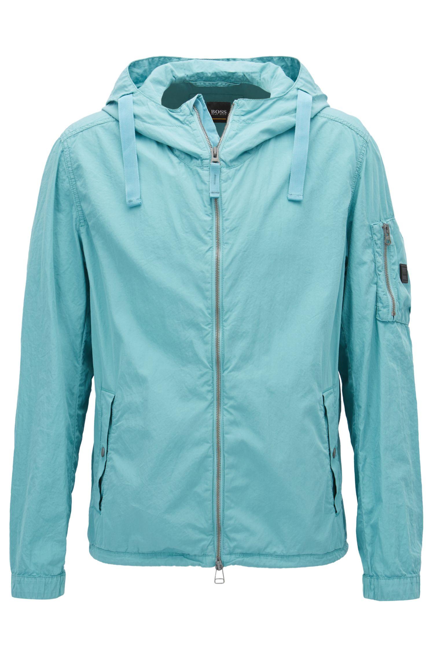 Water-repellent jacket in Italian mercerised cotton