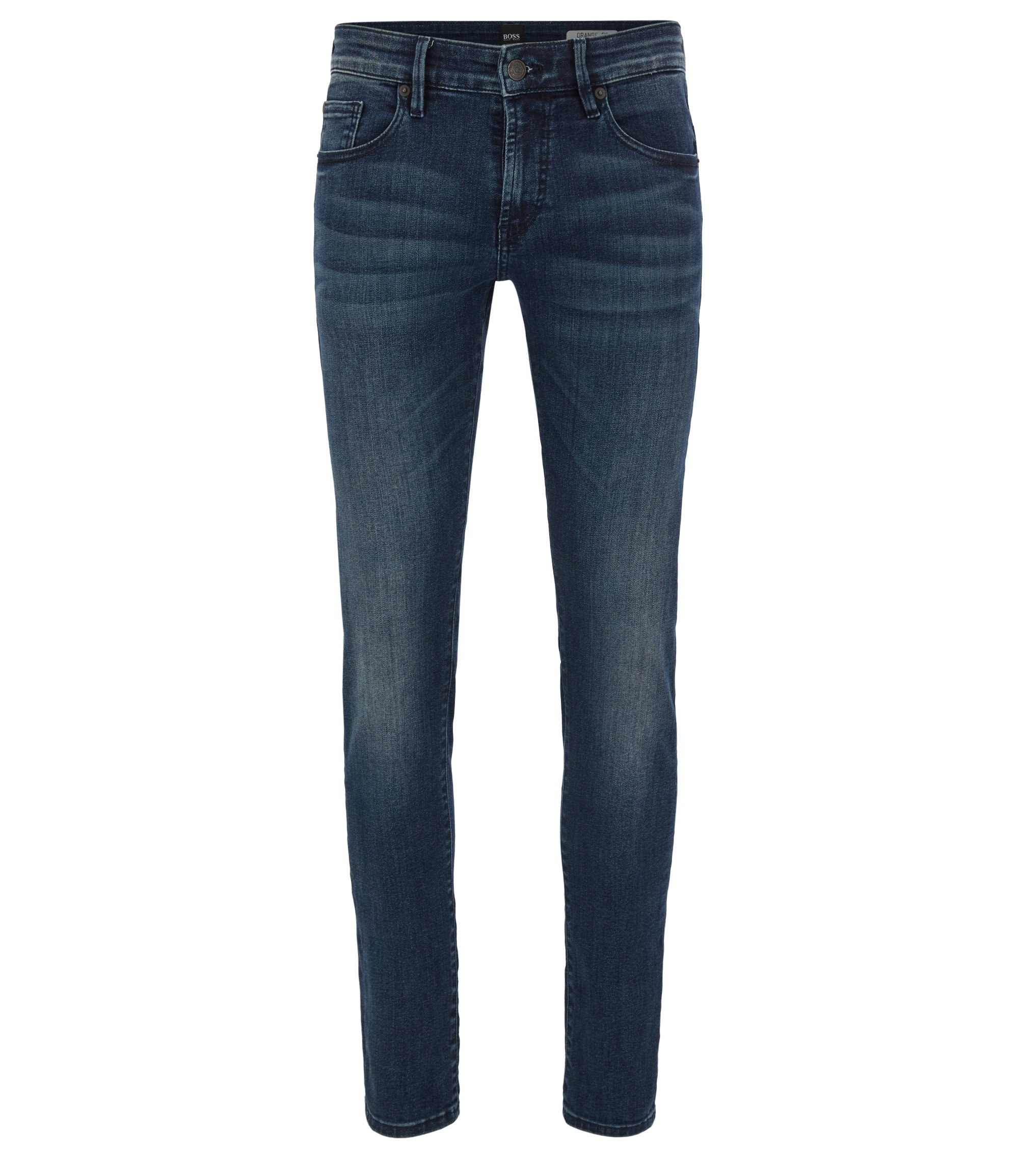 Jeans Skinny Fit en denim super stretch, Bleu foncé