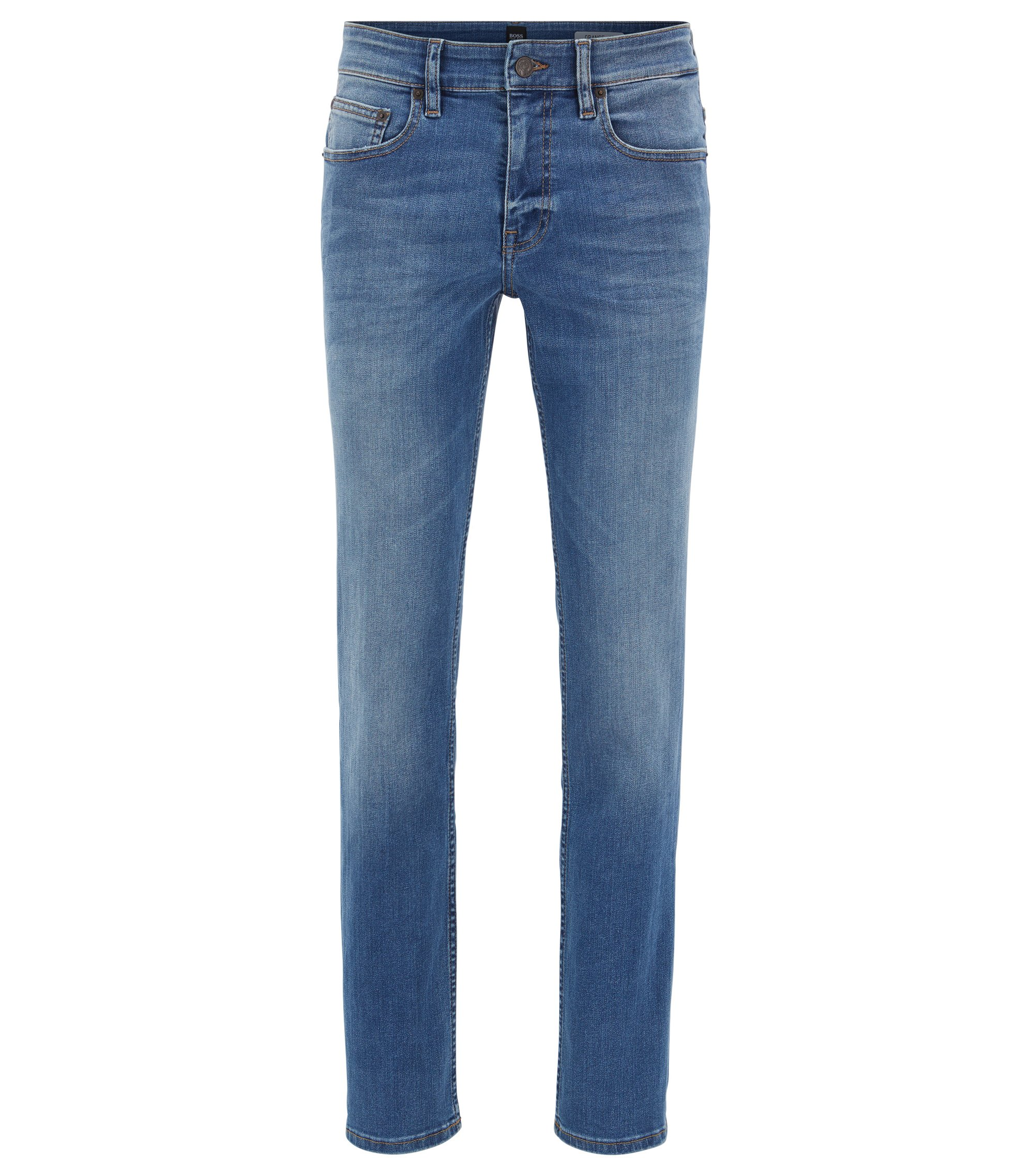 Jeans Slim Fit bleu moyen en denim super stretch, Bleu