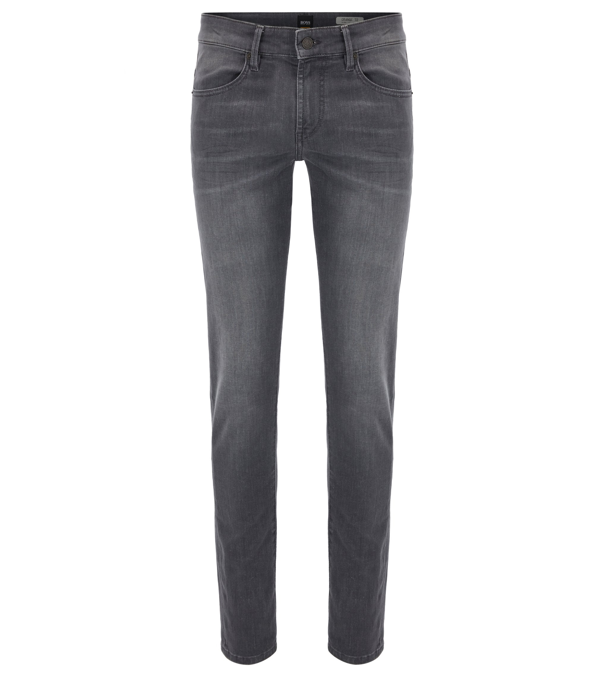Jean Skinny Fit en denim super stretch gris, Noir