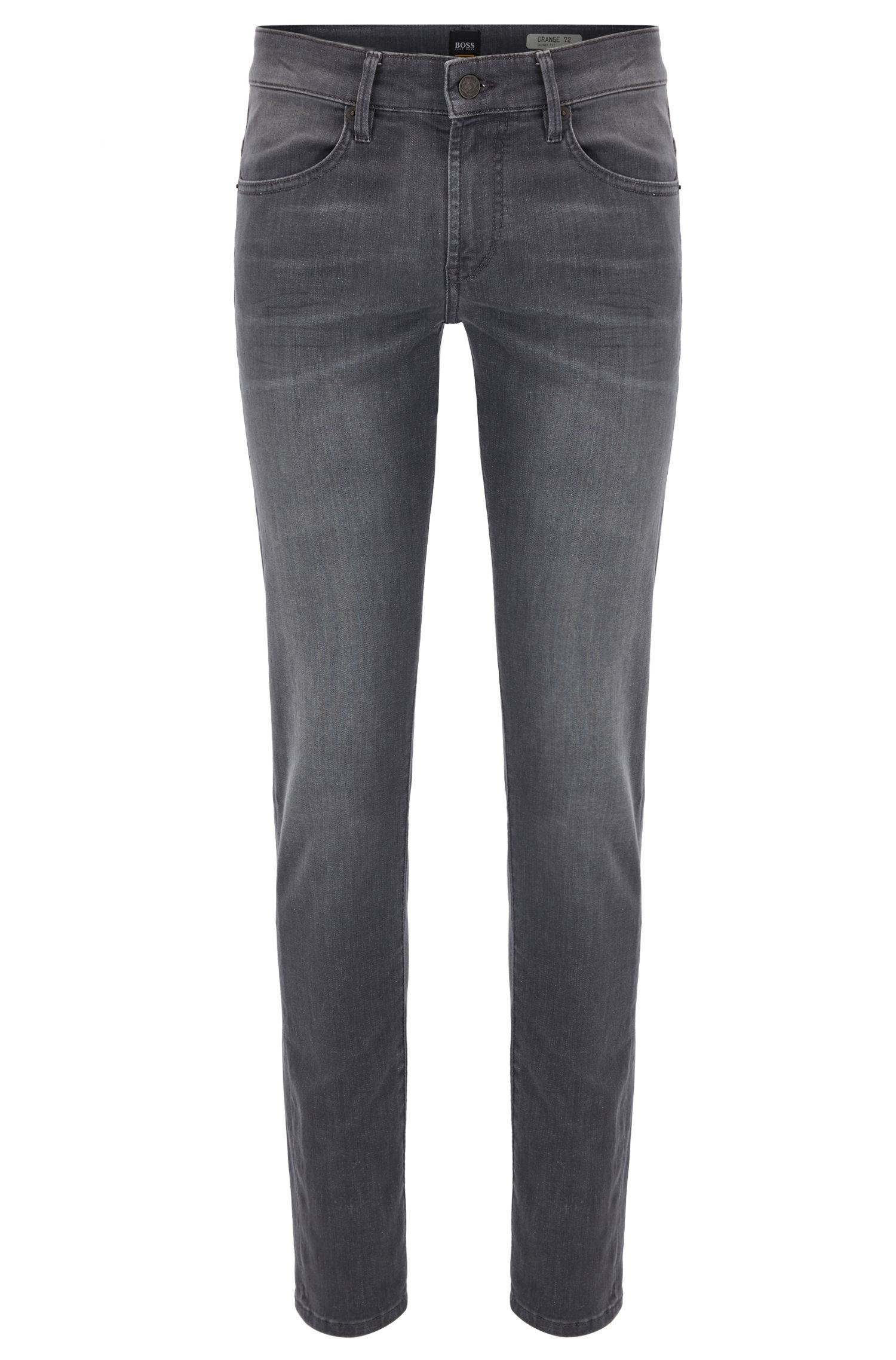 Skinny-fit jeans van grijs super-stretchdenim