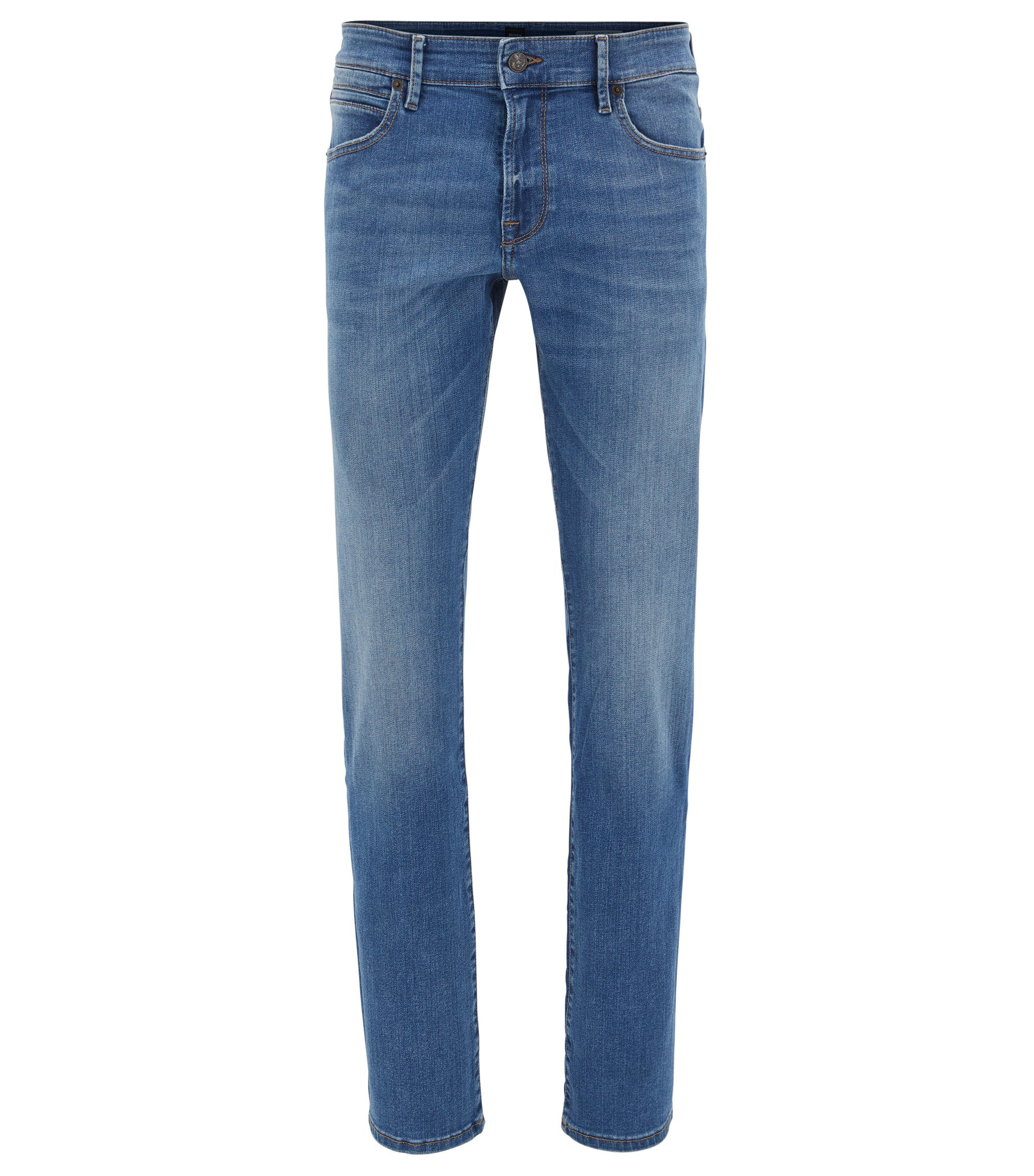 Regular-Fit Jeans aus Super-Stretch-Denim, Blau