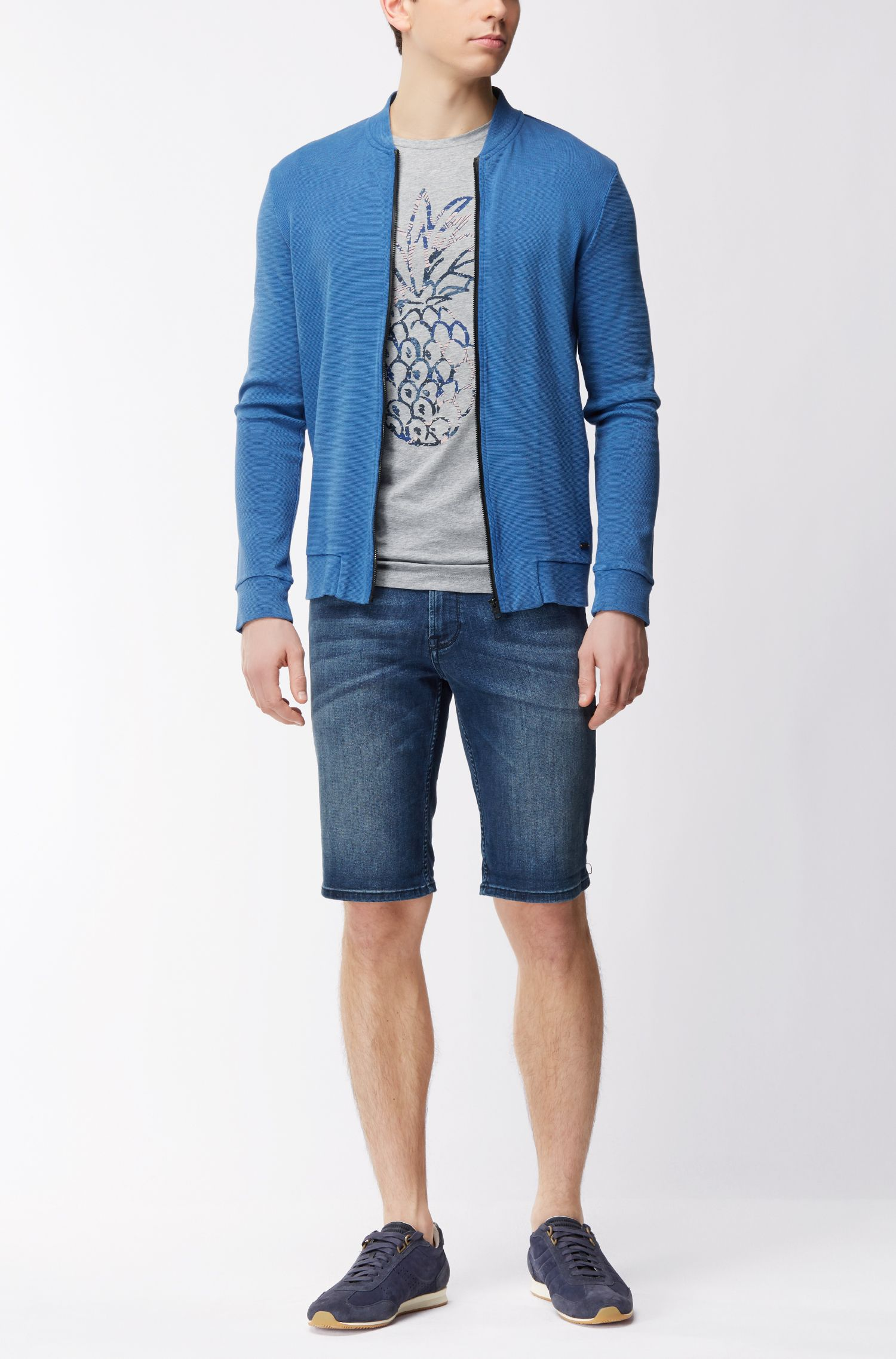 Shorts regular fit en denim superelástico