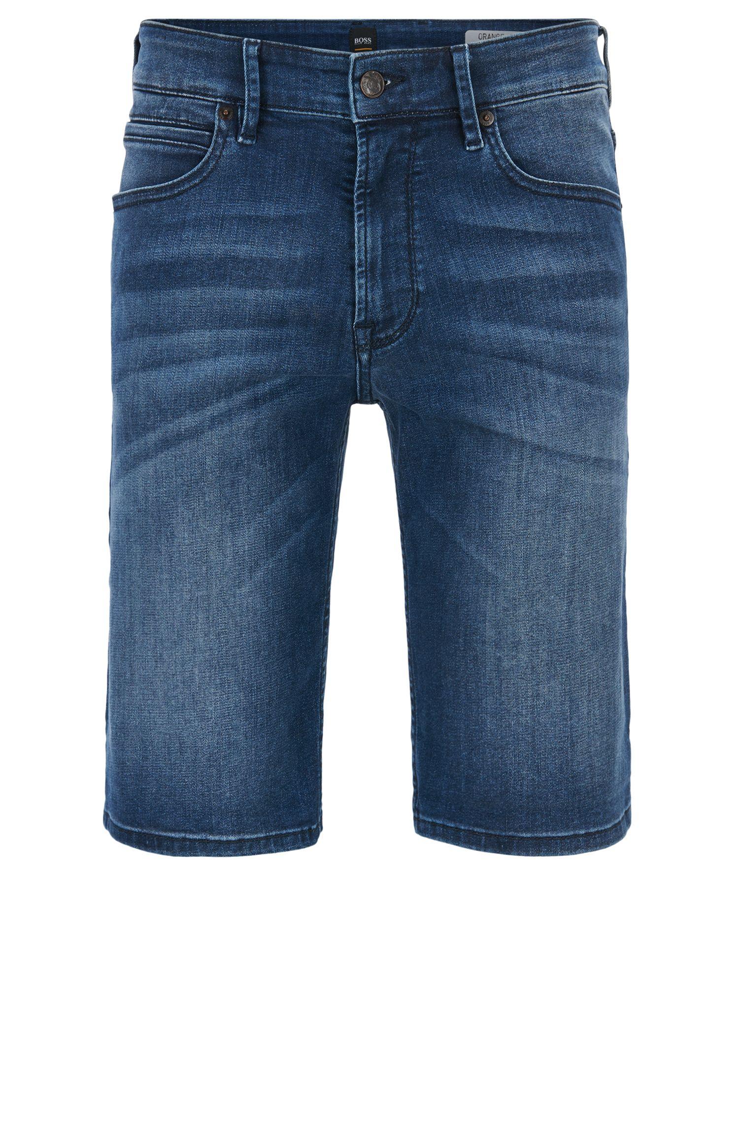 Regular-fit shorts in super-stretch denim