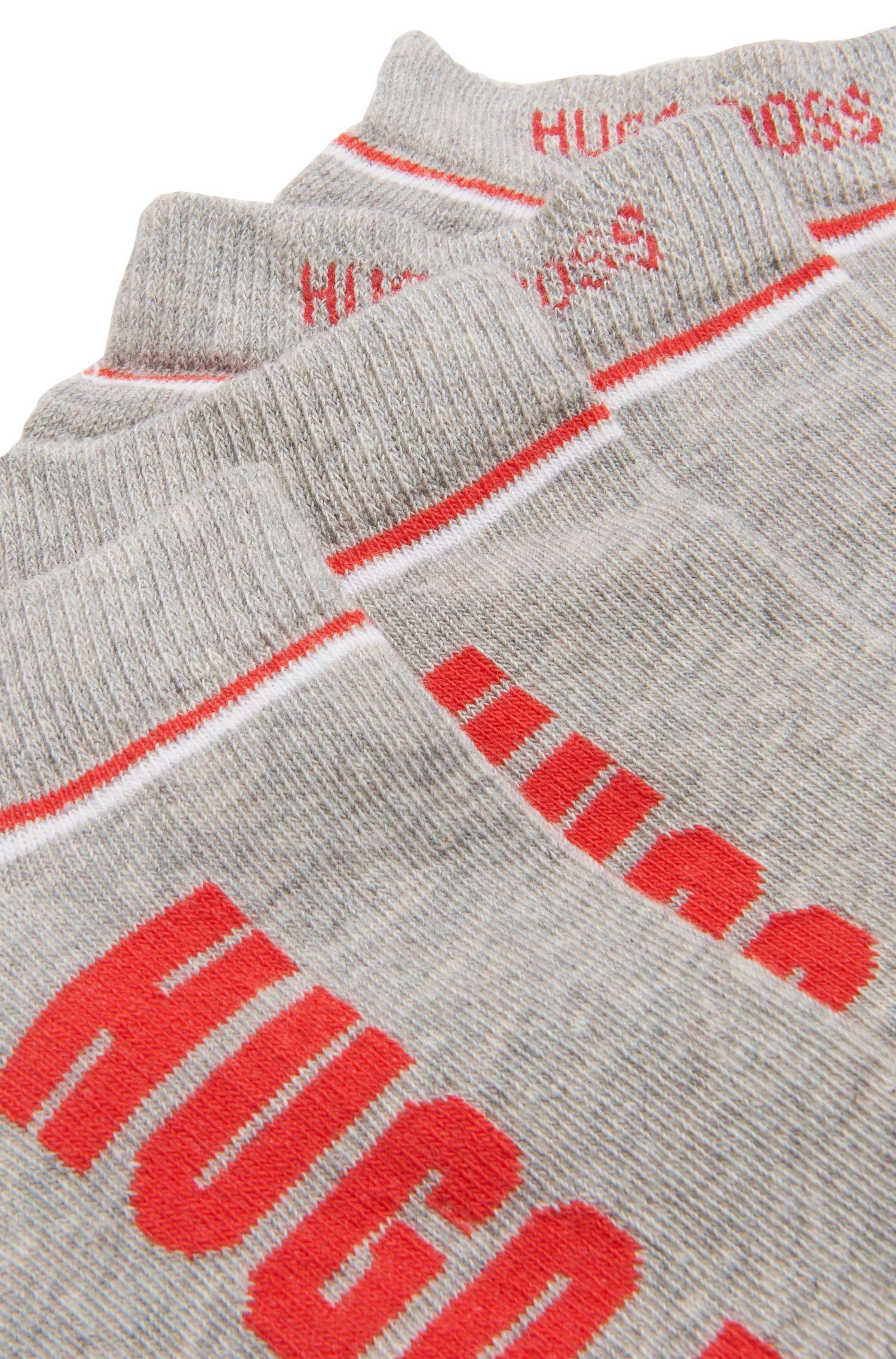 Zweier-Pack Sneaker-Socken aus Baumwoll-Mix mit Streifen