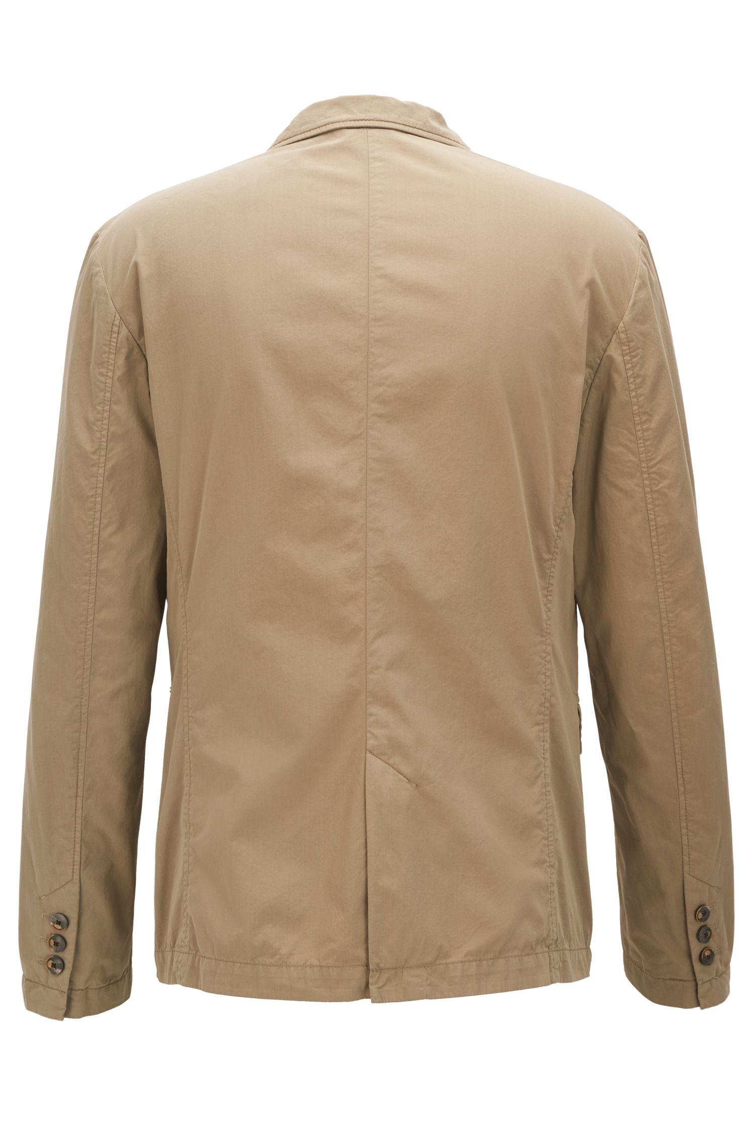 Slim-fit blazer in lightweight Italian cotton