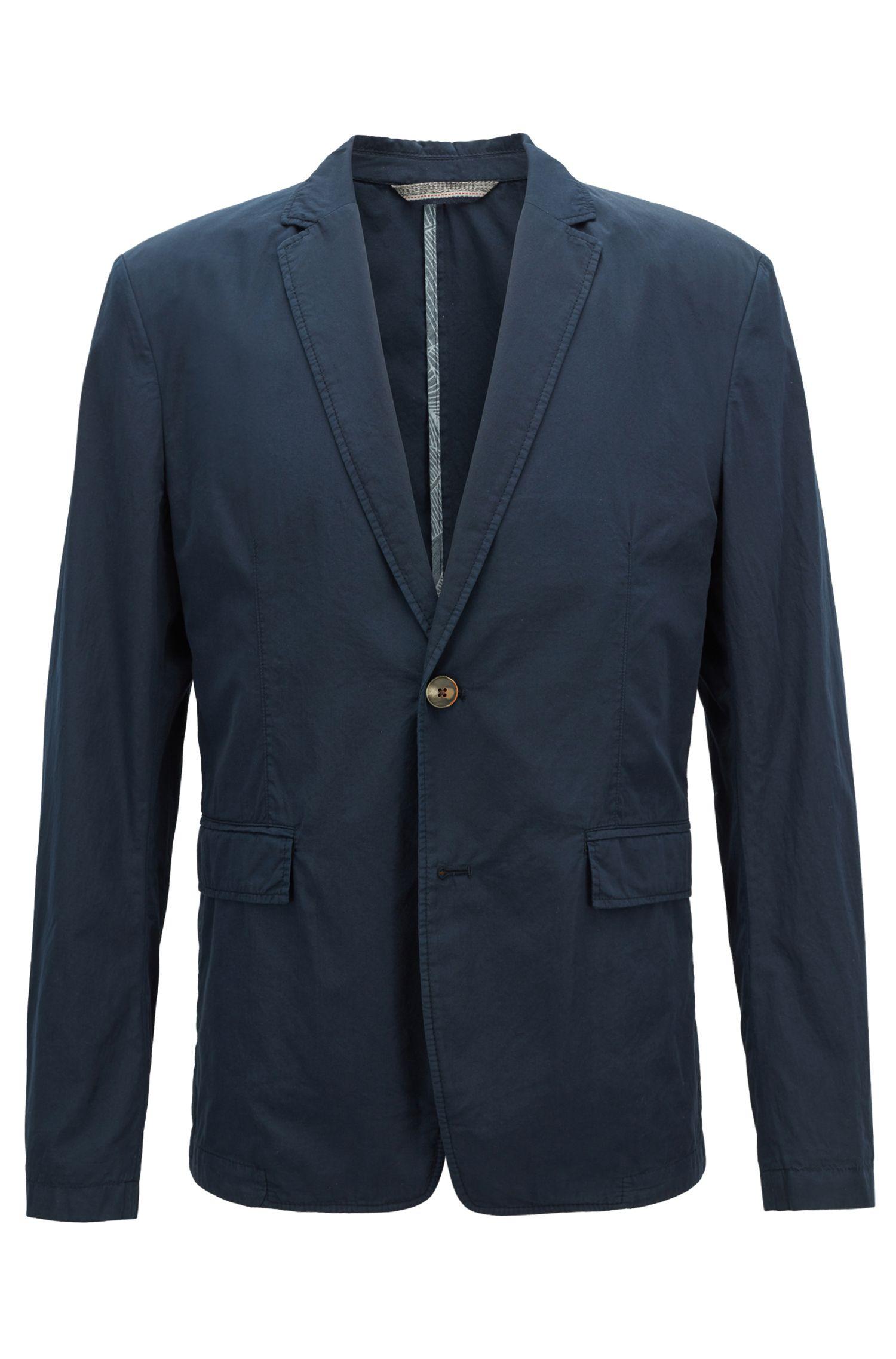Blazer slim fit en algodón italiano ligero