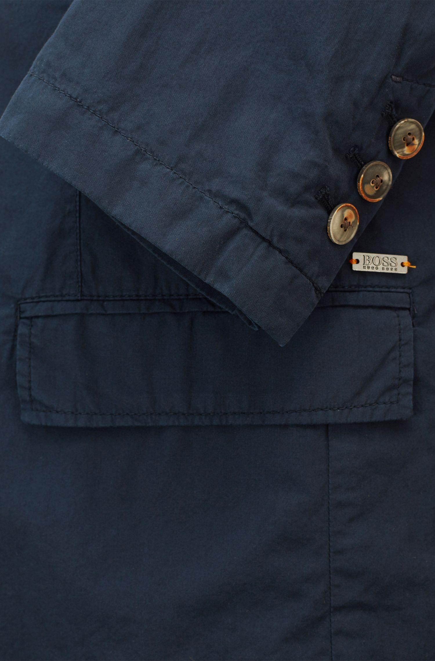 Blazer slim fit in cotone leggero realizzato in Italia