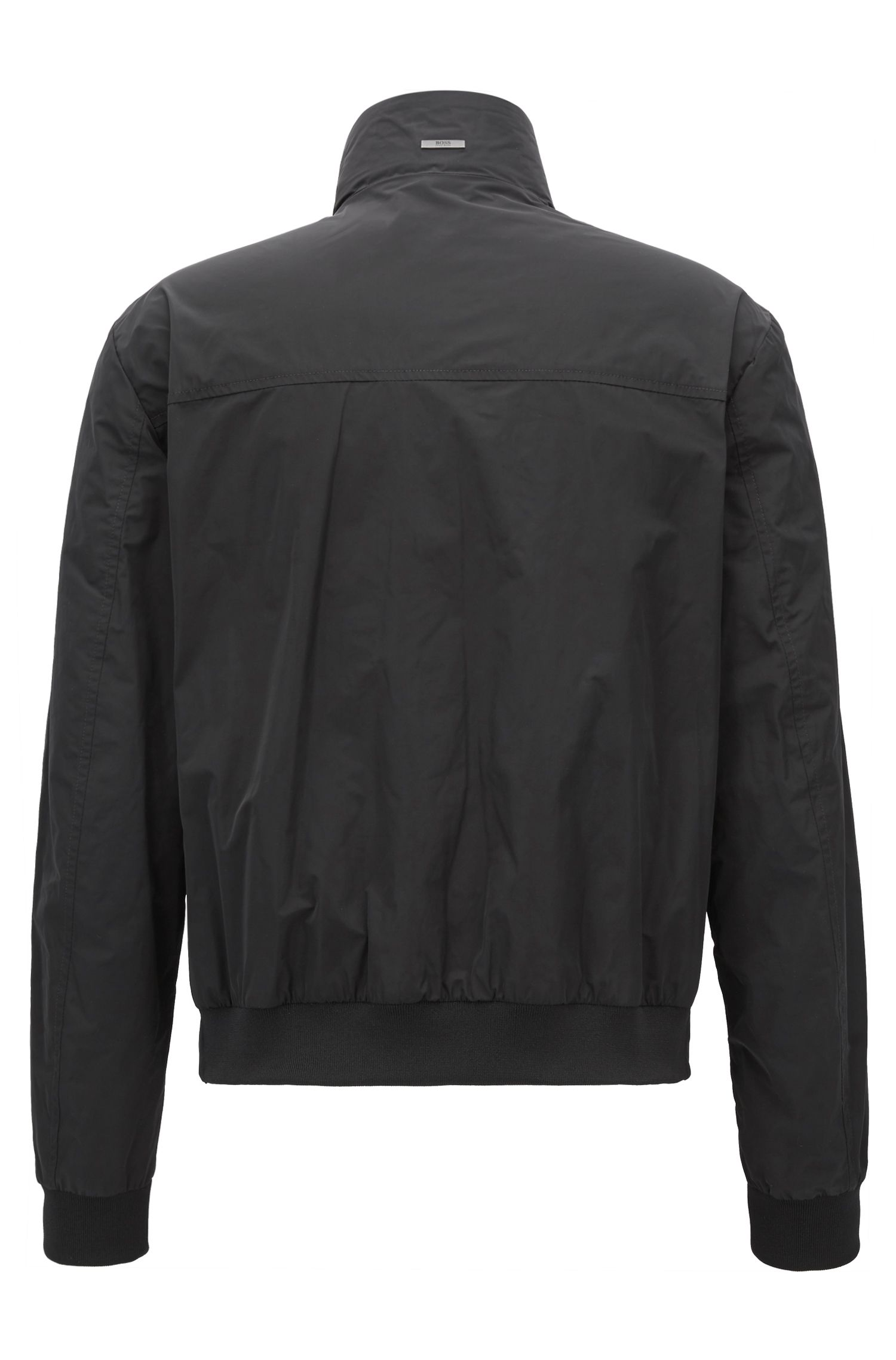 Blouson bomber jacket in water-repellent technical fabric