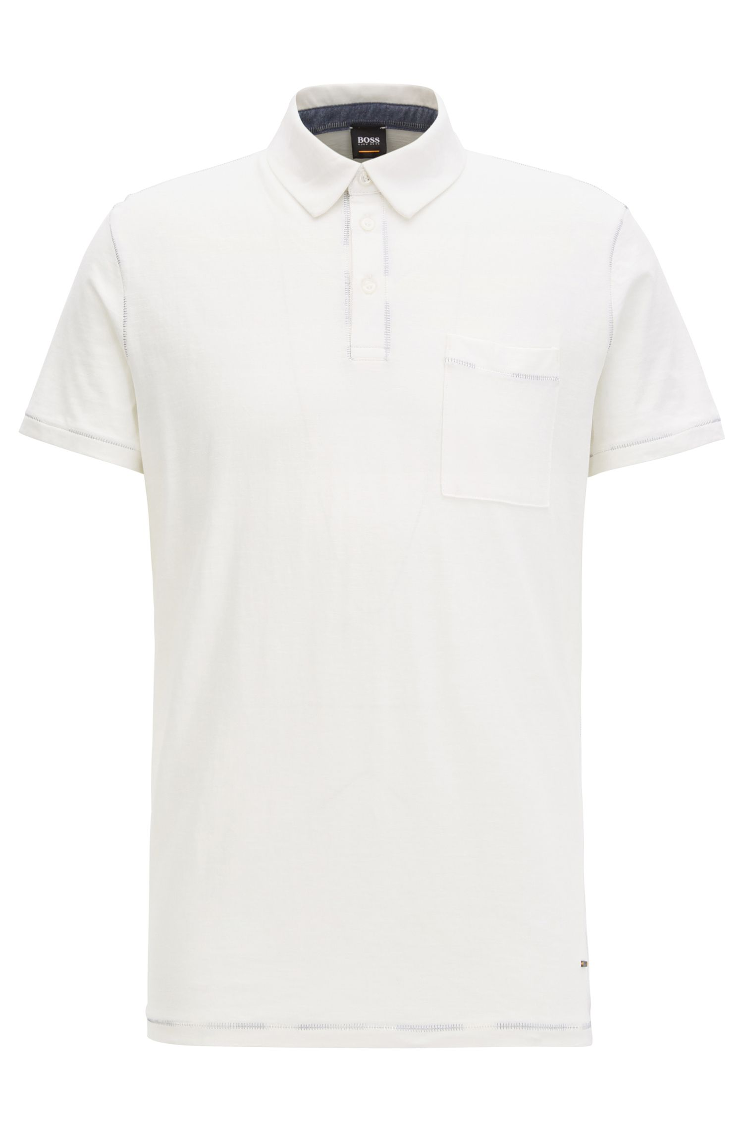 Polo relaxed fit con impunture in cotone