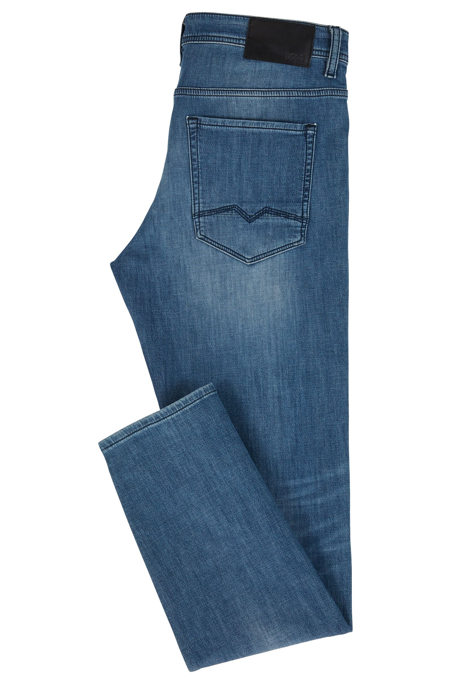 Jeans Tapered Fit en maille denim stretch