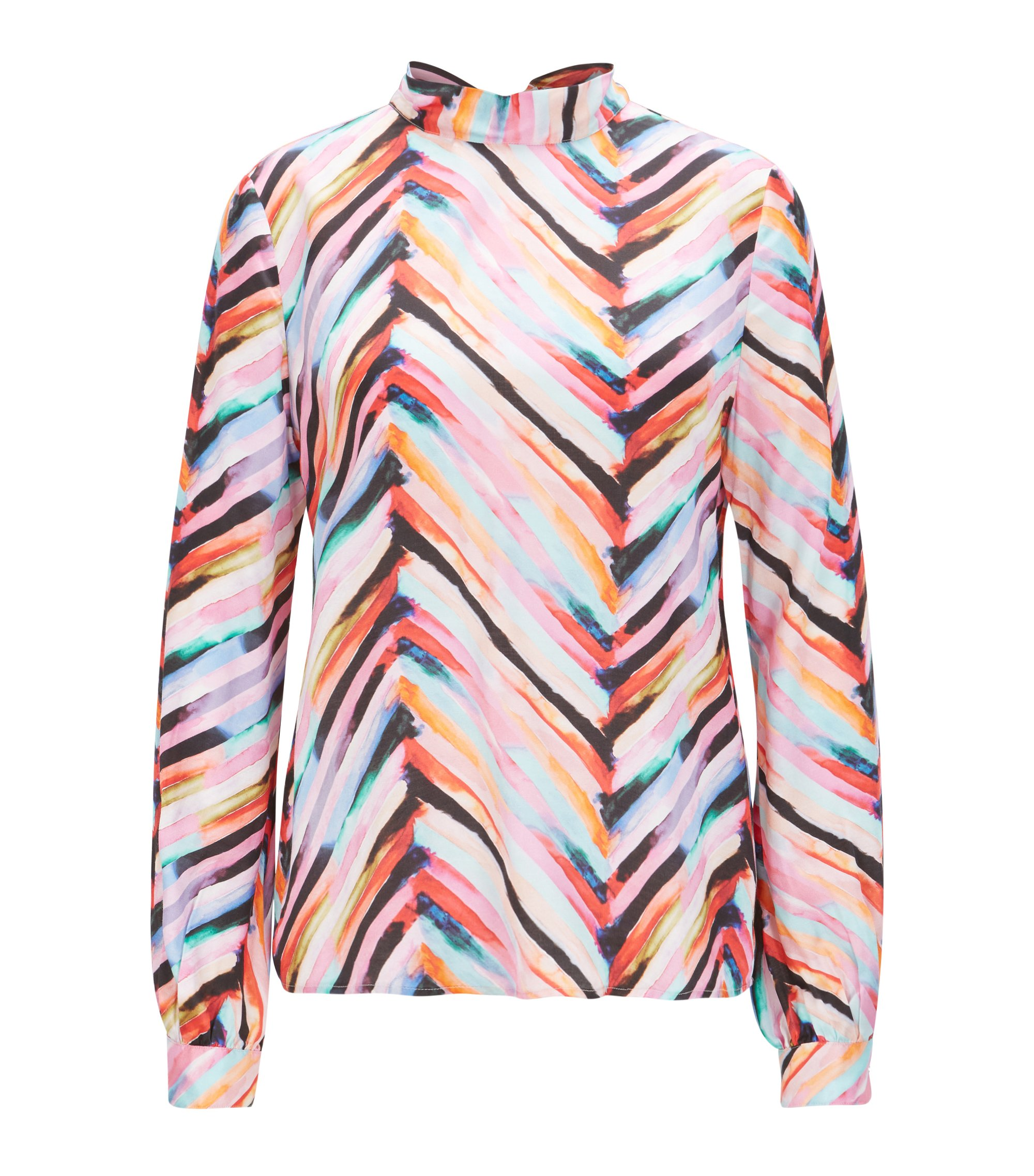 Regular-fit blouse met all-over print, Bedrukt