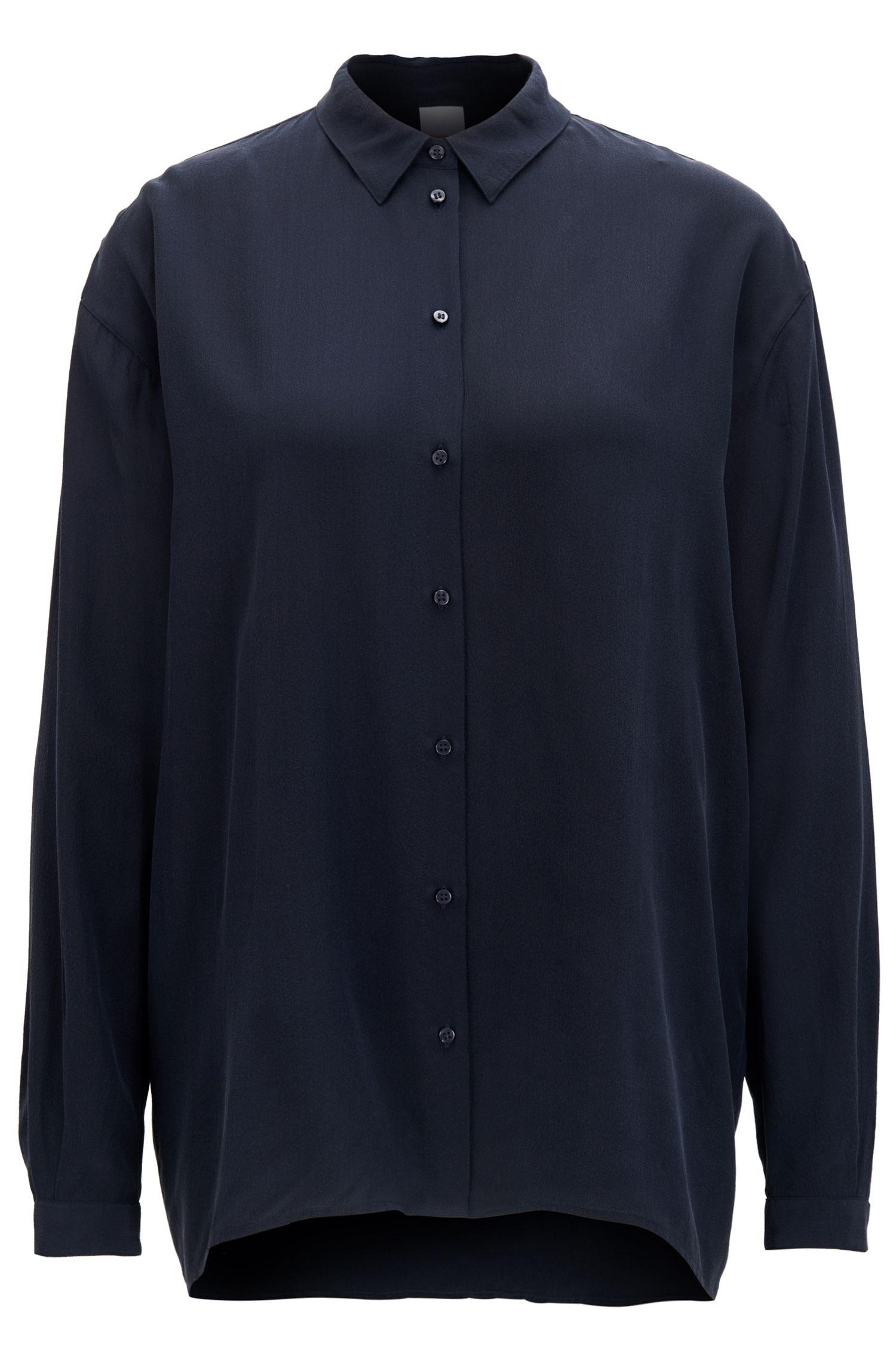 Oversized Bluse aus reiner Seide