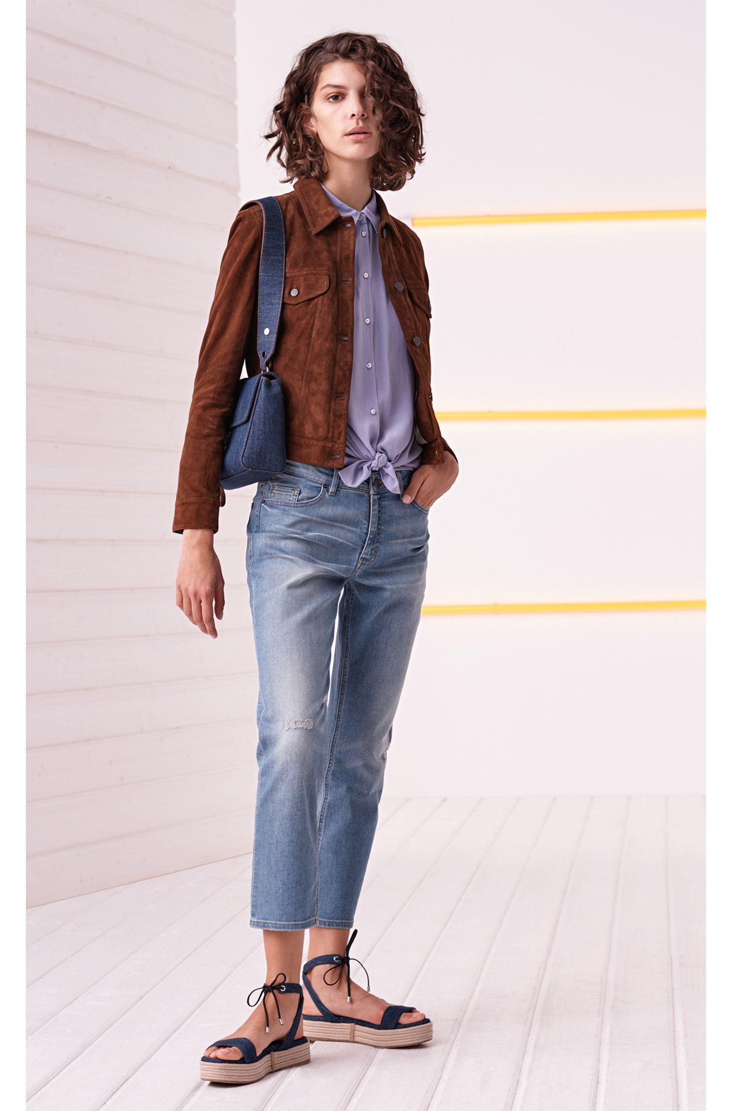 Oversized-fit blouse van pure zijde