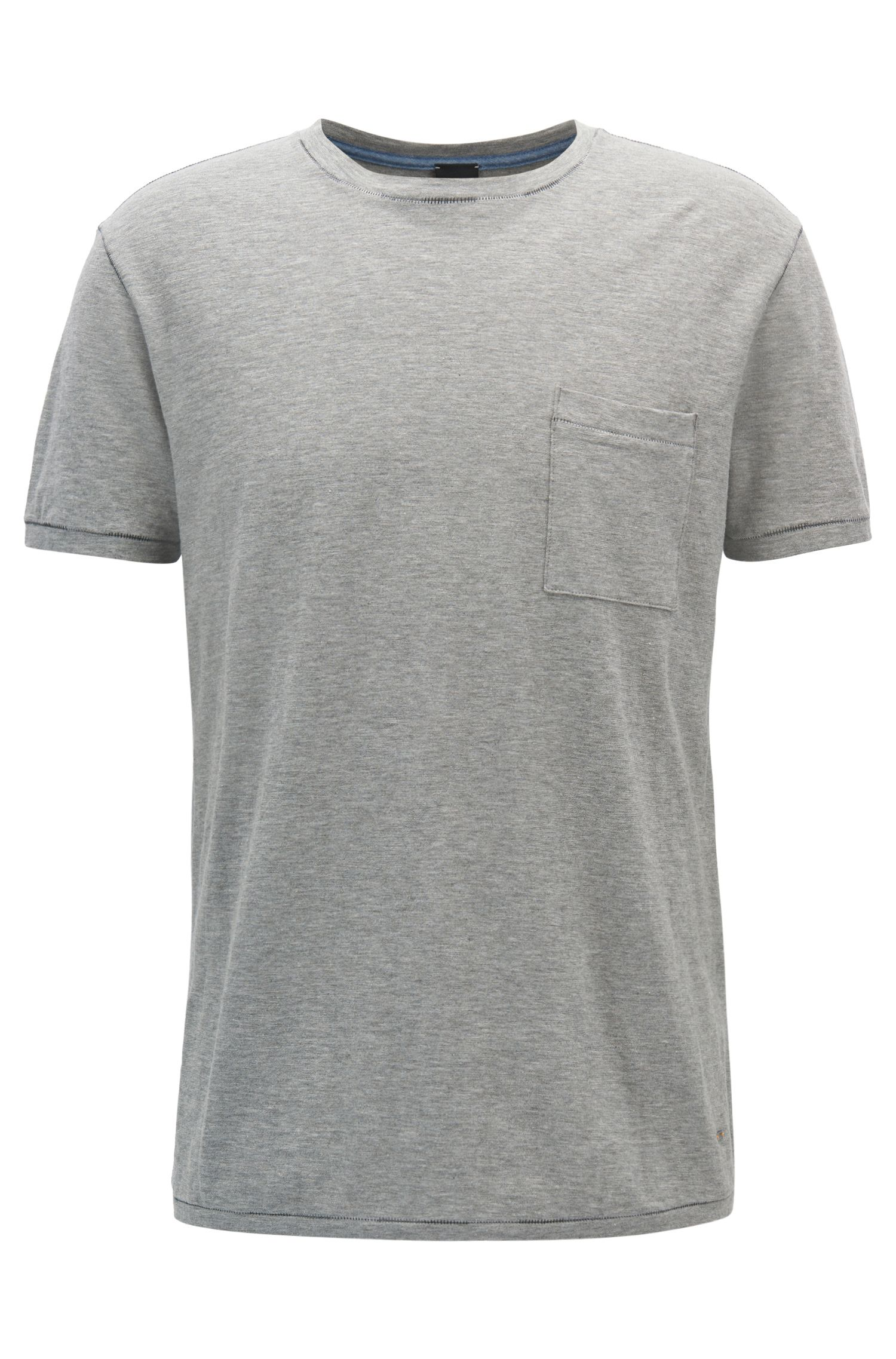 Relaxed-fit T-shirt van slubkatoen