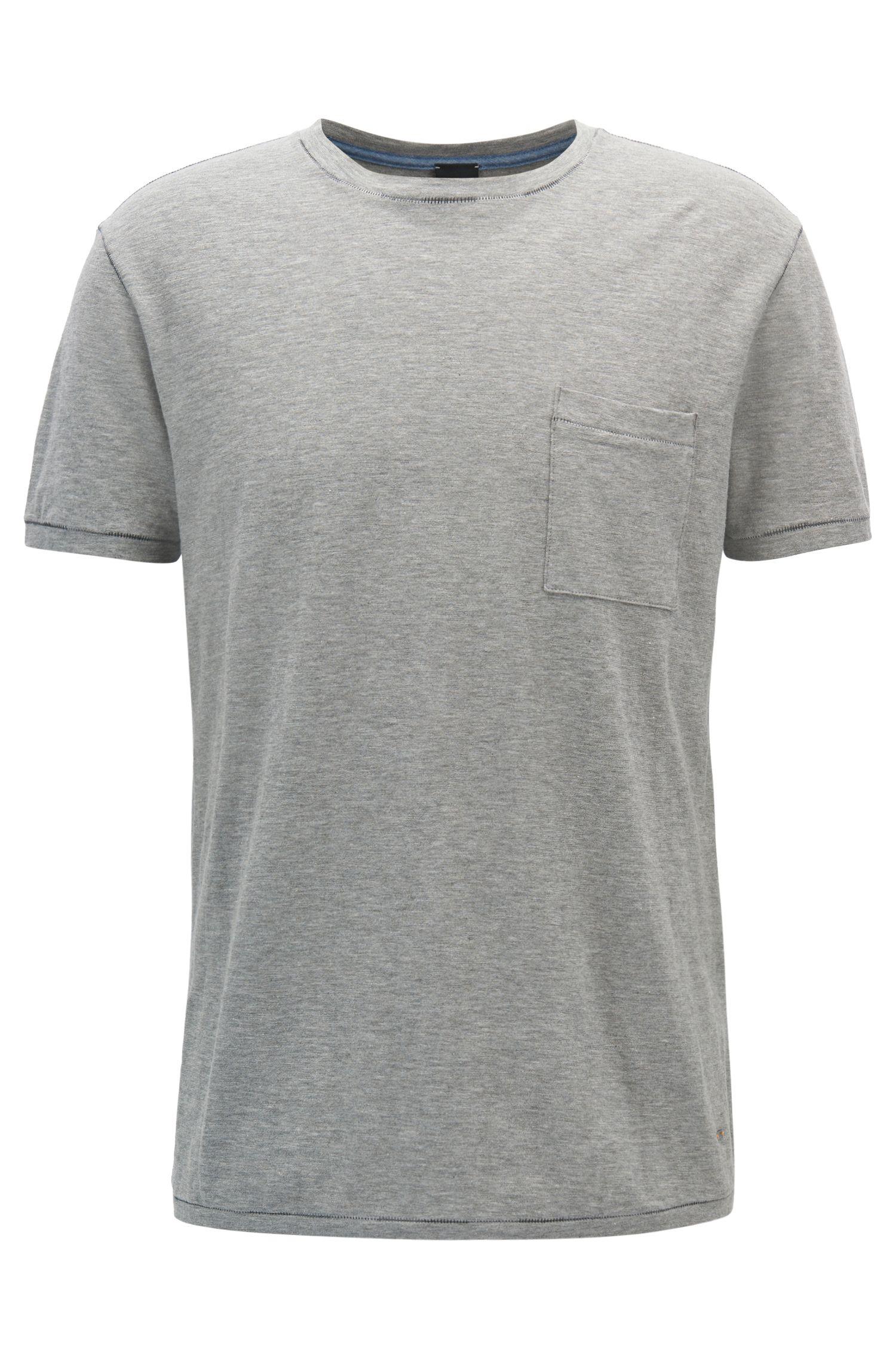 T-shirt relaxed fit in cotone slub-yarn