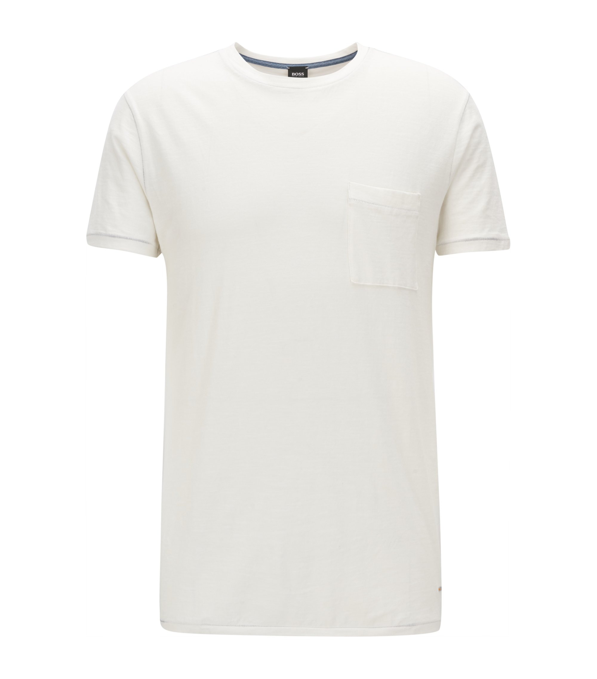 Relaxed-fit T-shirt in slub cotton, Natural