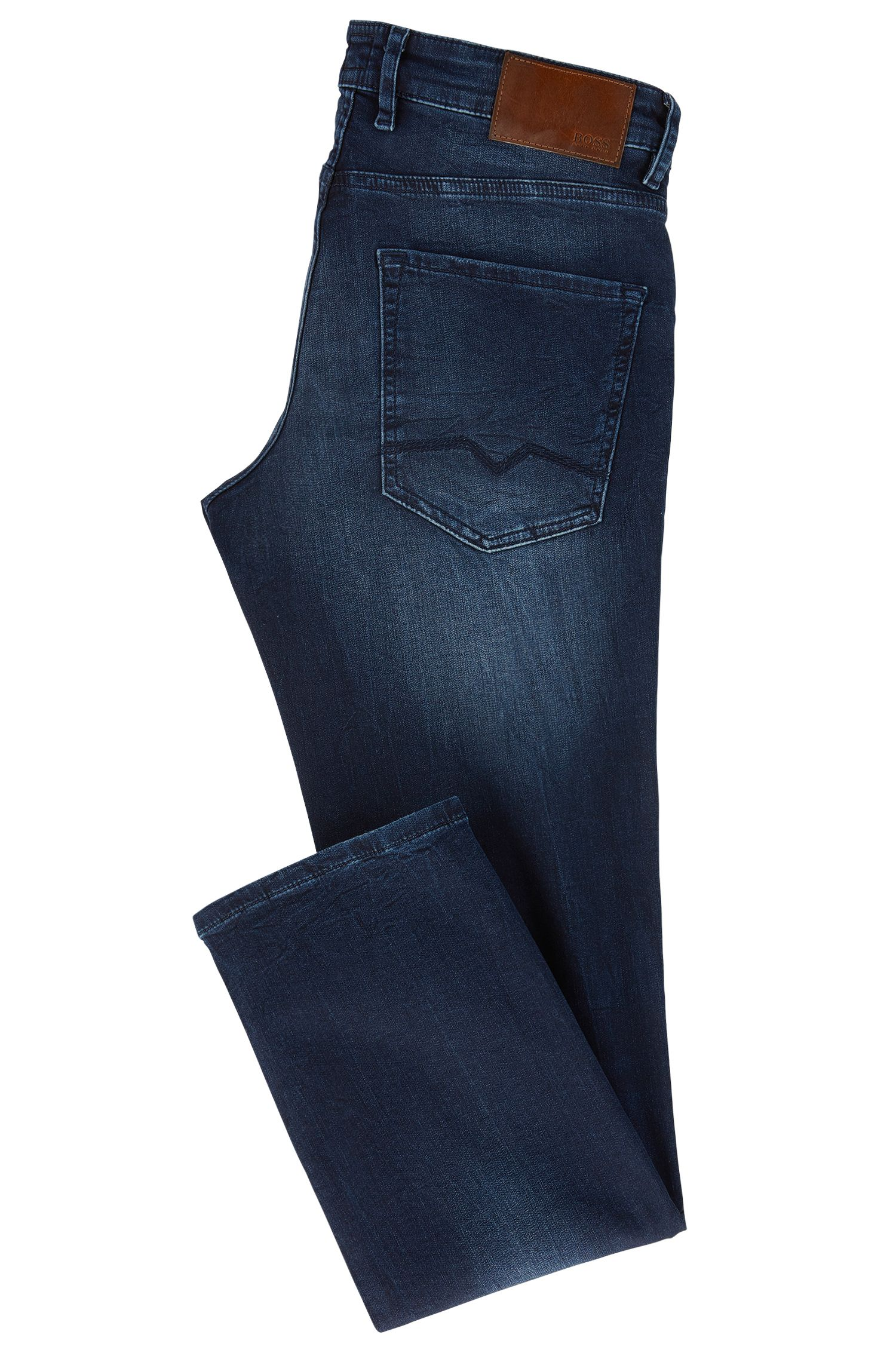 Regular-fit jeans in knitted stretch denim