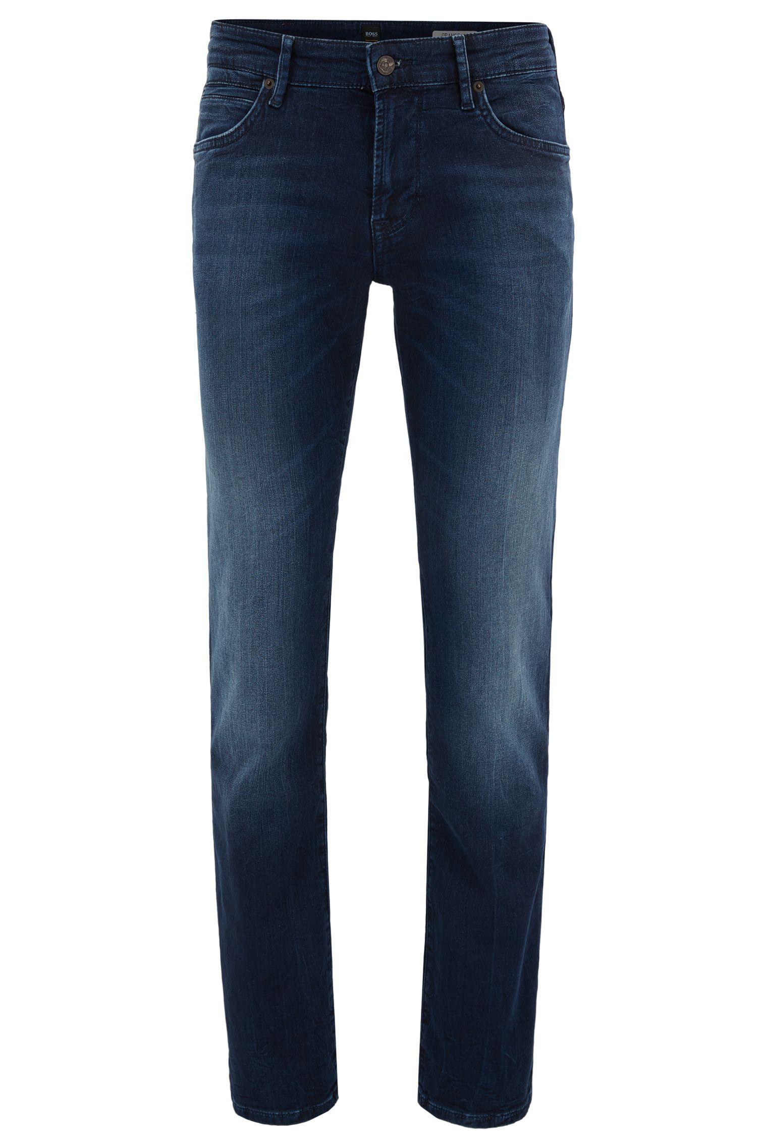 Jeans regular fit in denim elasticizzato in maglia