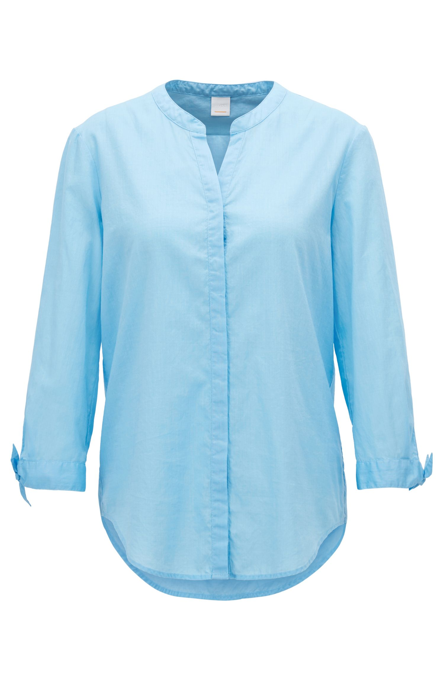 Relaxed-Fit Bluse aus Chambray
