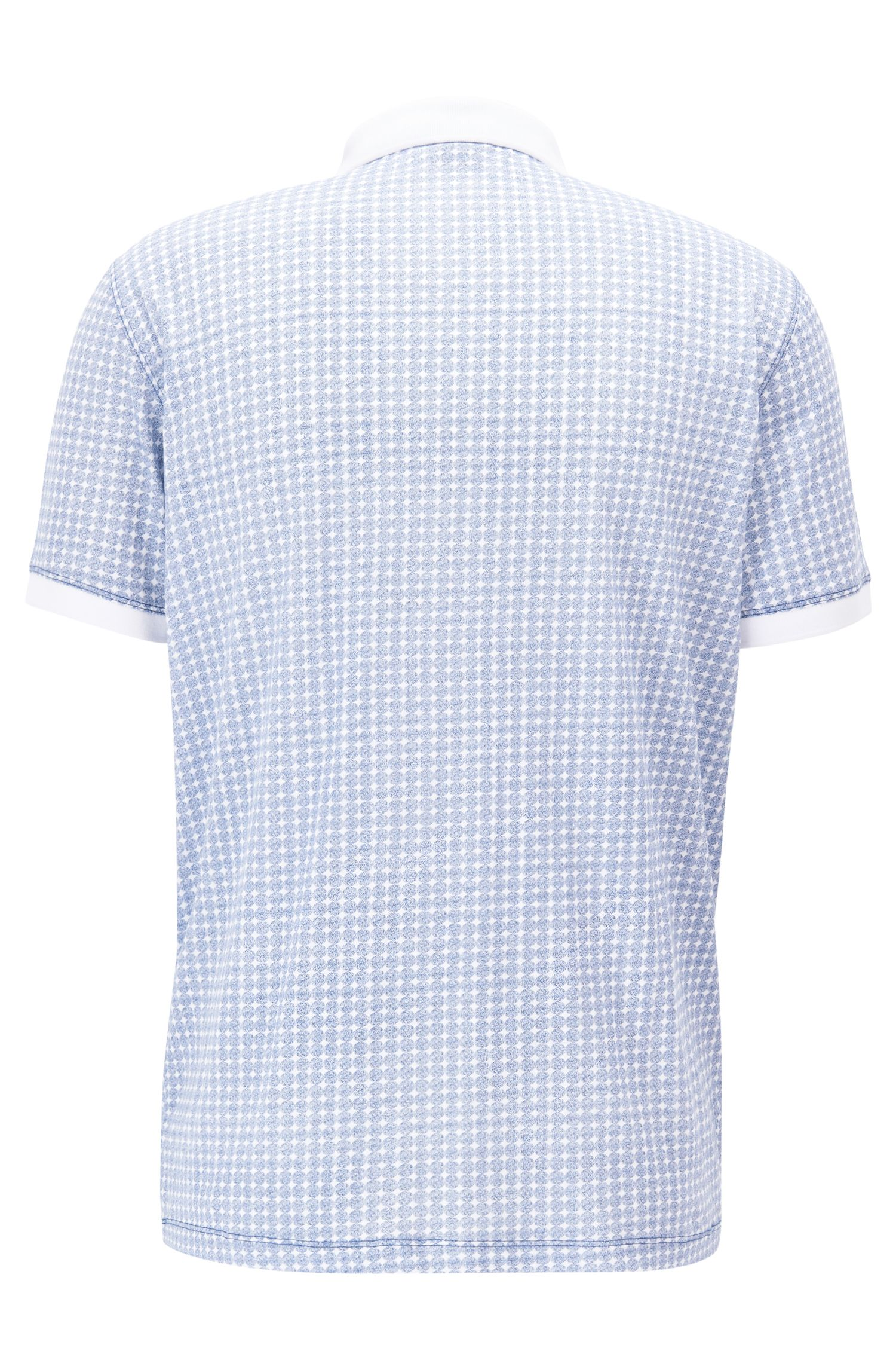 Polo relaxed fit in cotone a disegni