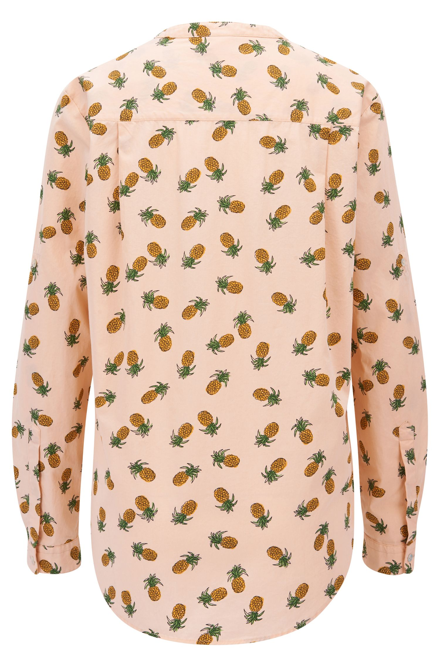 Relaxed-Fit Bluse aus Baumwoll-Canvas mit Ananas-Print