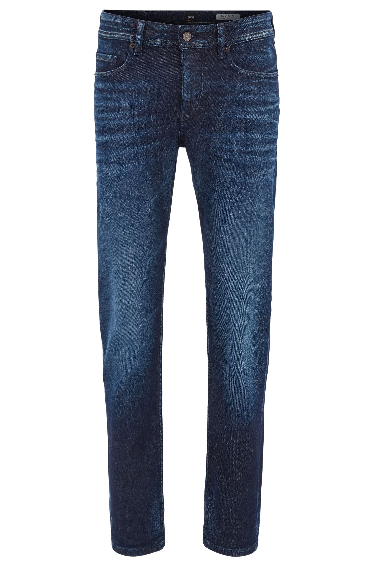 Tapered-fit jeans van comfortabel stretchdenim