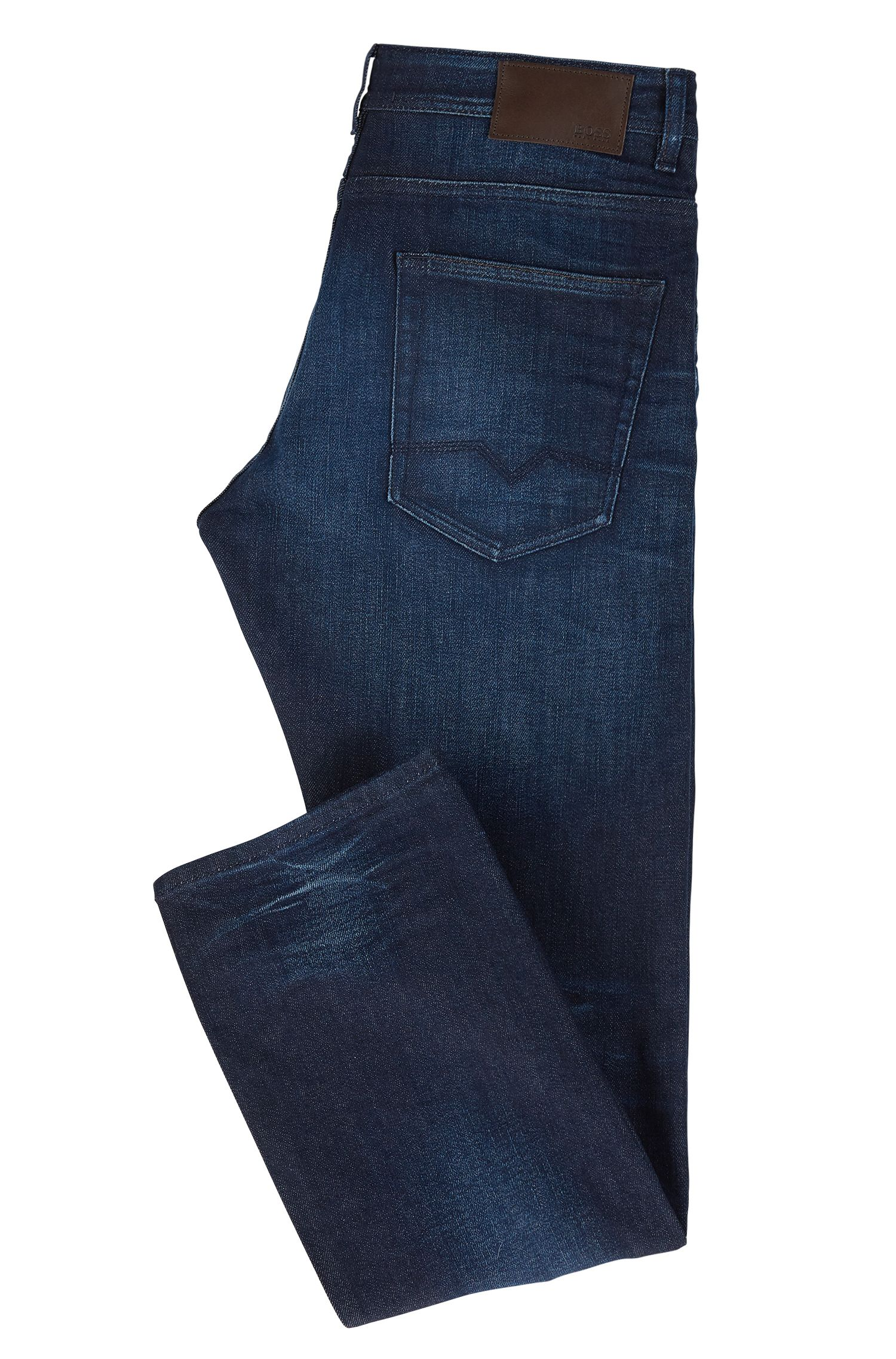 Relaxed-Fit Jeans aus Stretch-Denim in Used-Optik