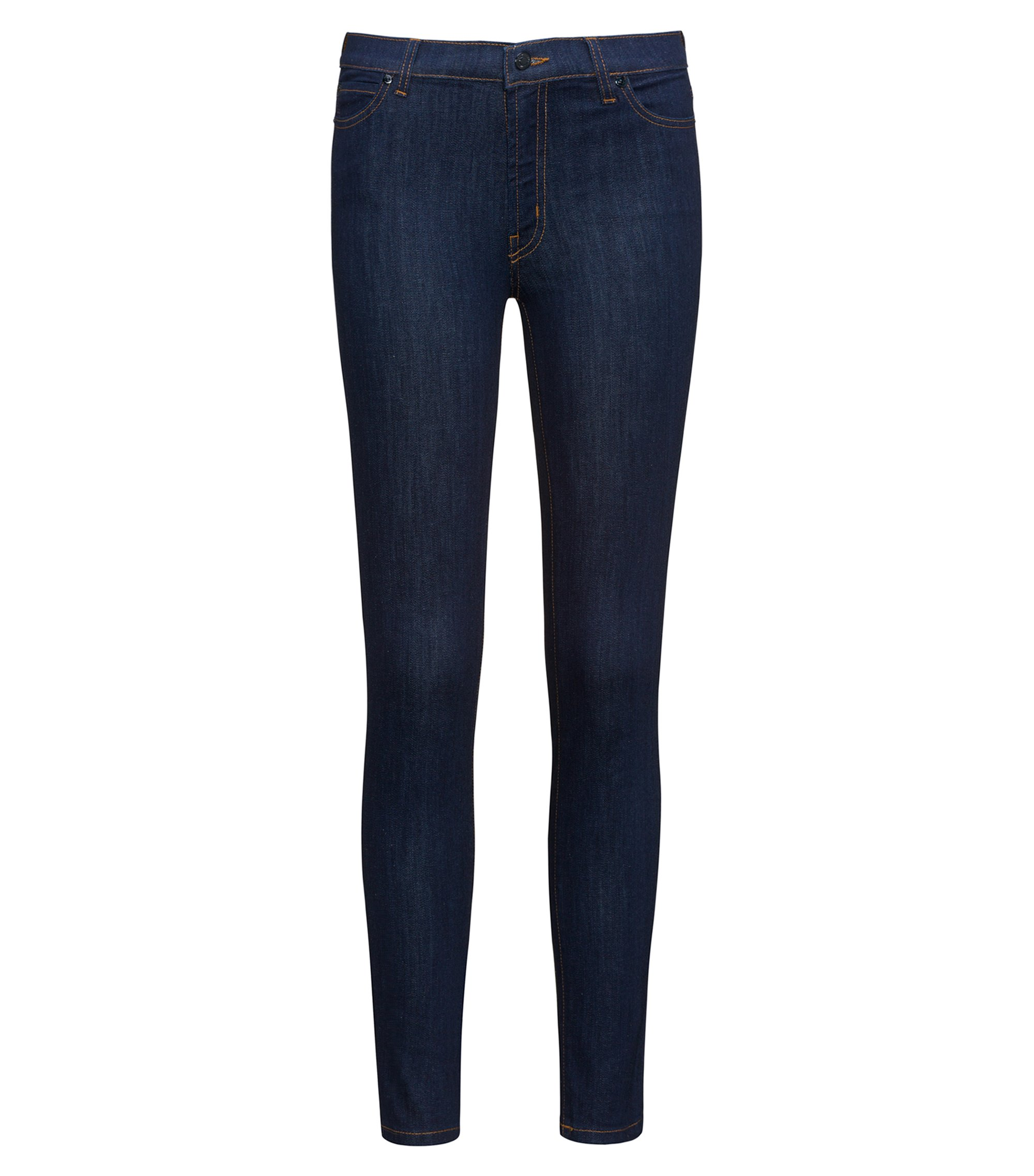 Jeans extra slim fit in denim blu scuro, Blu scuro