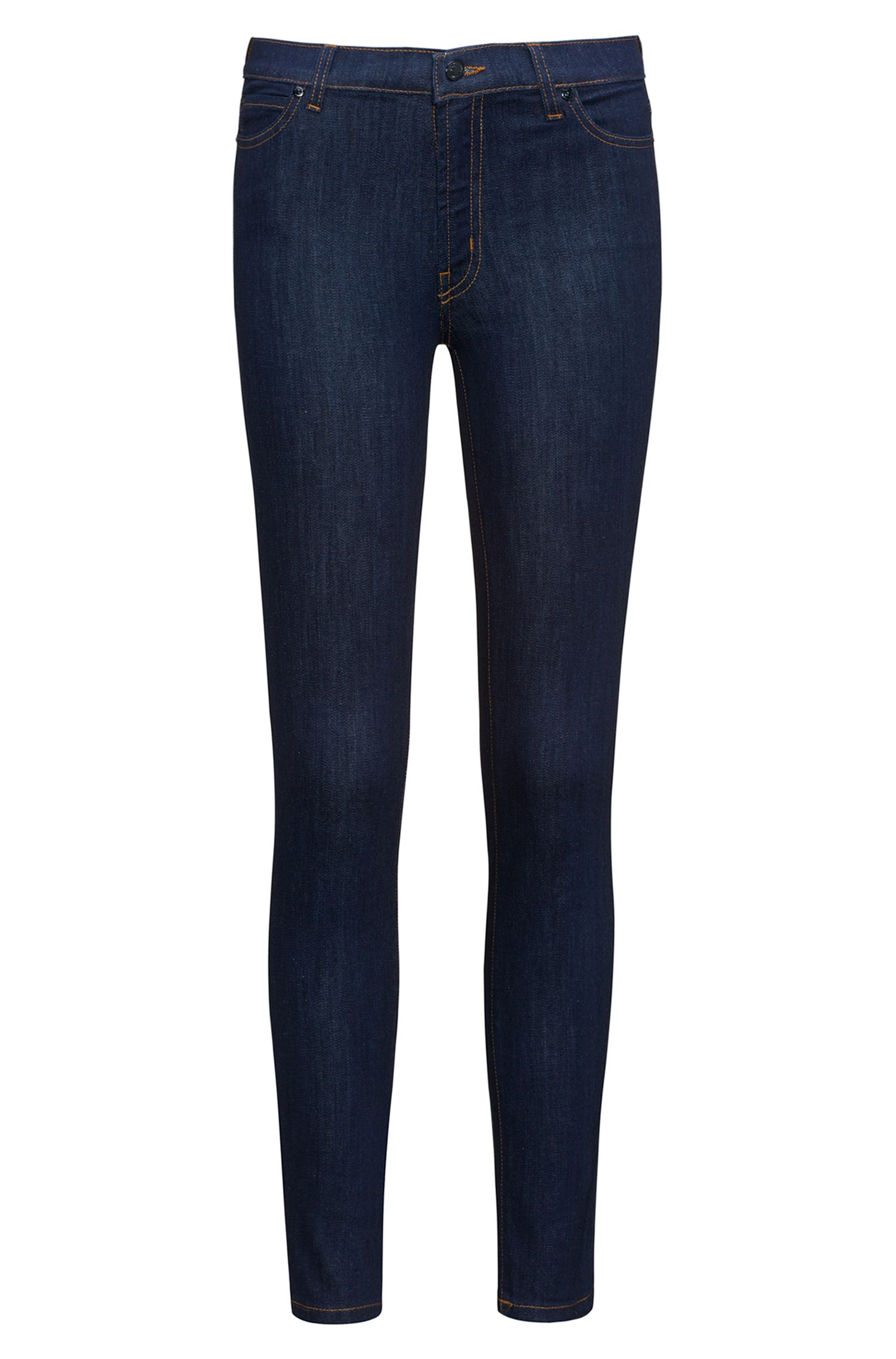 Extra-slim-fit jeans in dark-blue denim