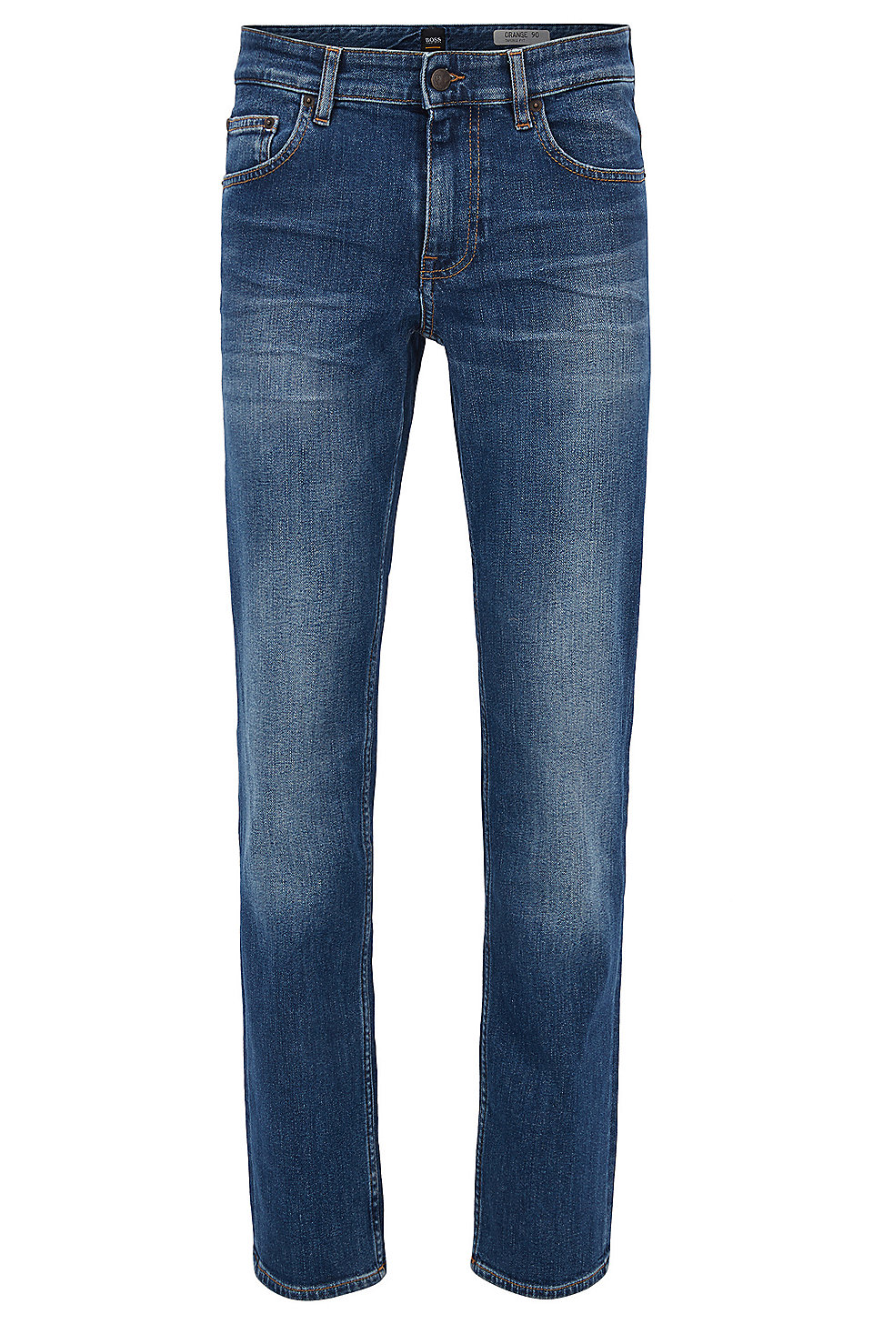 Free Shipping Cheap Real Mid-blue slim-fit jeans in stretch denim BOSS Recommend Discount Online Sale Discount How Much Outlet Clearance kKzpuo