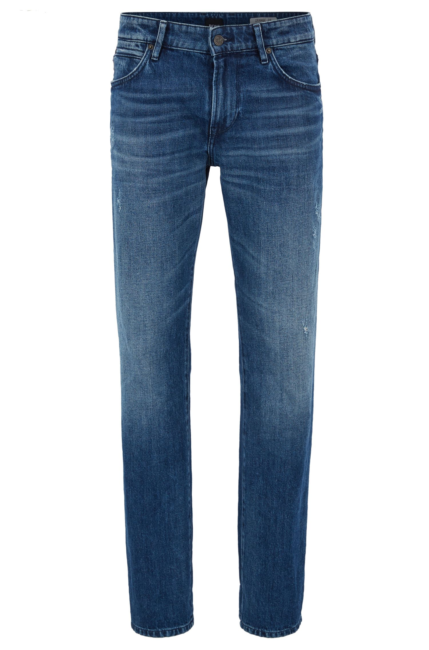 Regular-fit jeans van red-cast denim