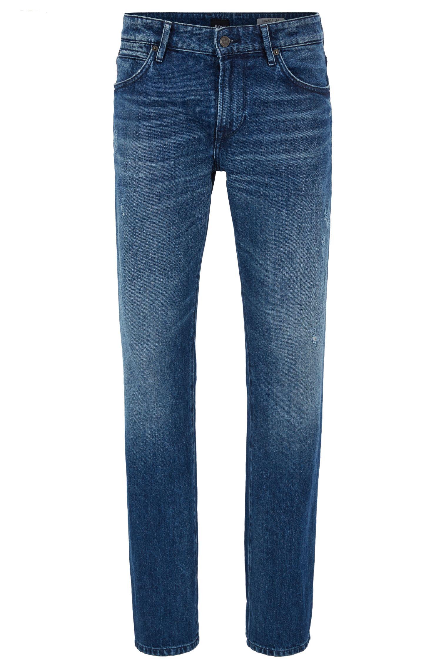Jeans regular fit in red-cast denim