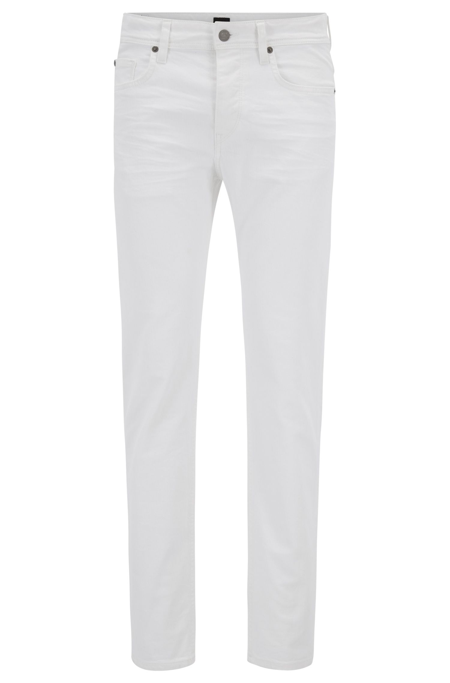 Off-white stretch-denim jeans in a tapered fit