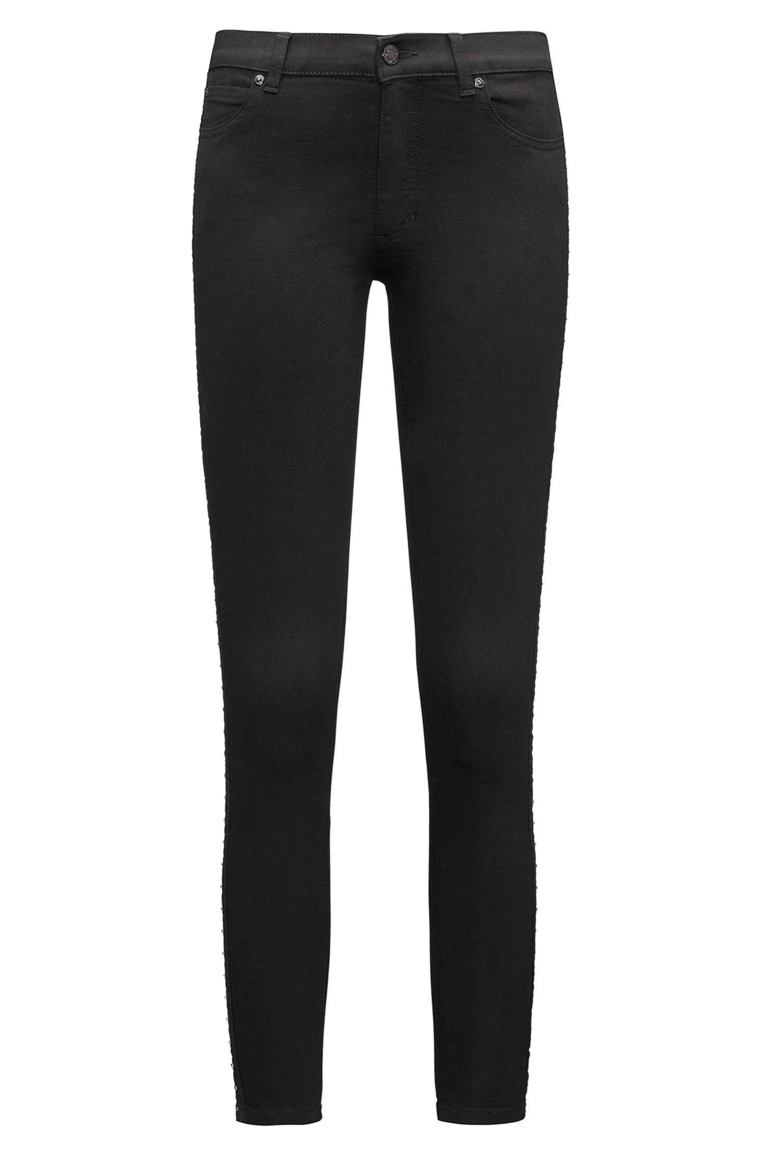 Jeans skinny fit con gancetti laterali