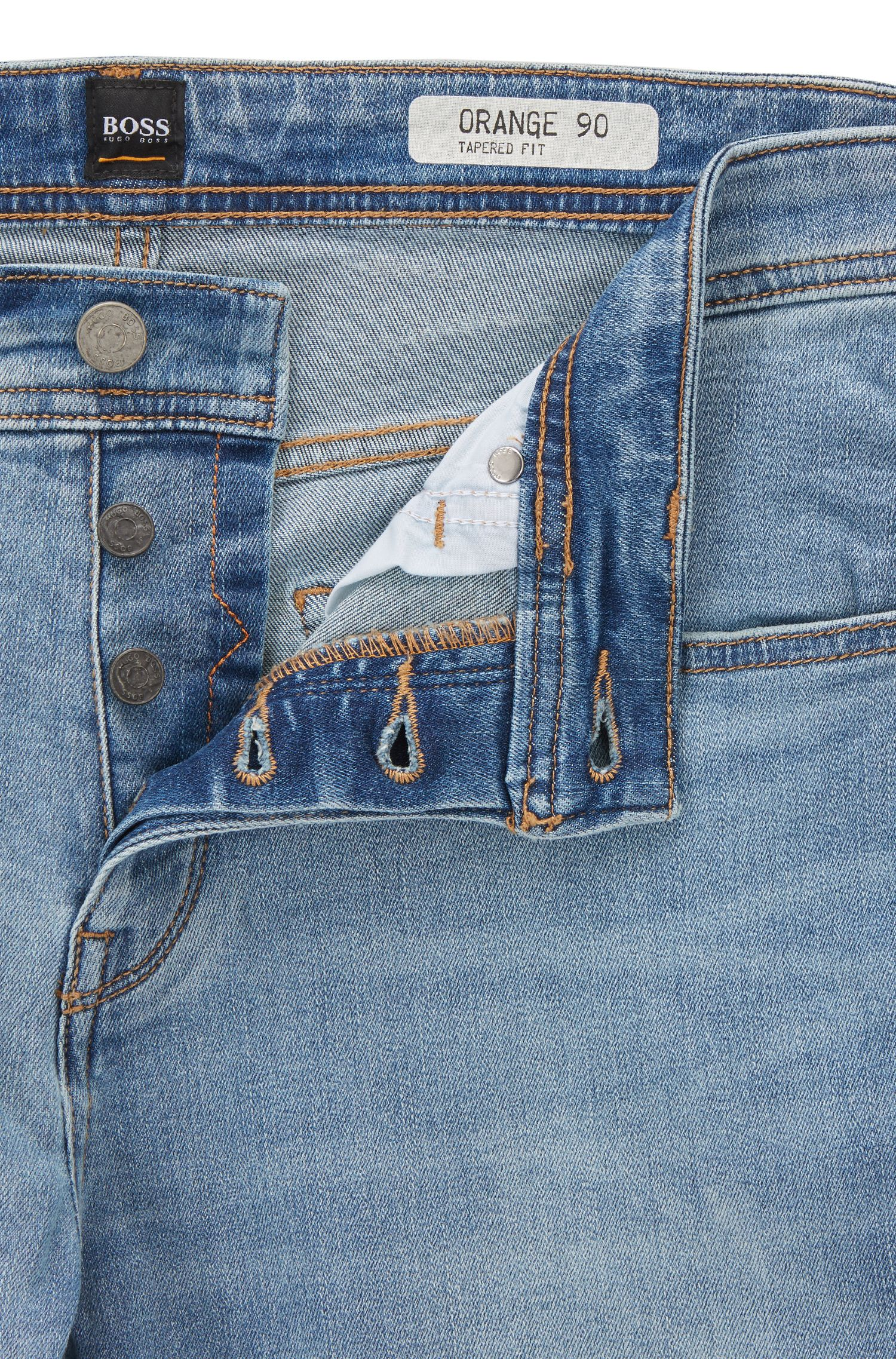 Jean Tapered Fit en denim super stretch