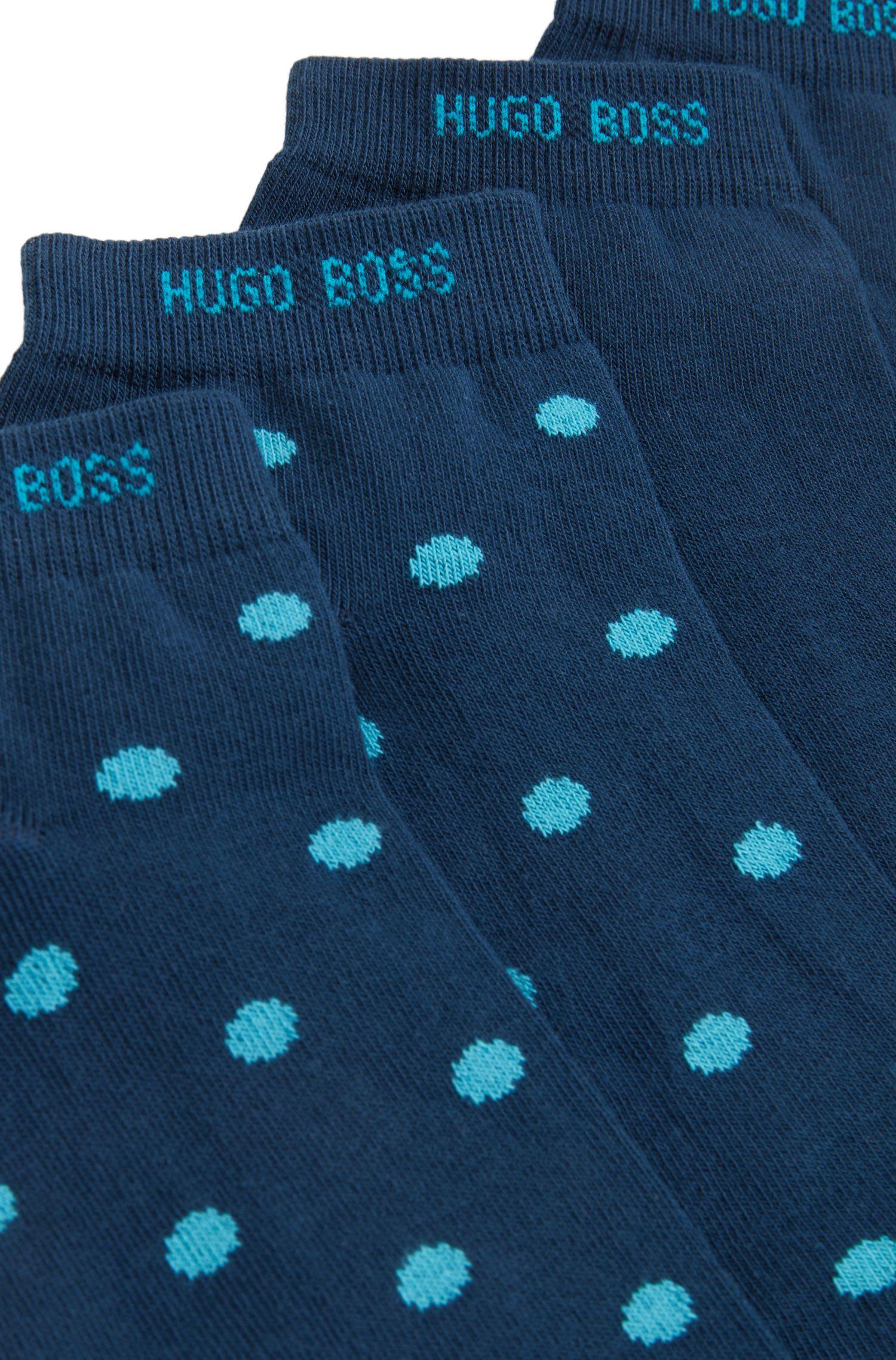 Sneaker-Socken aus Baumwoll-Mix im Zweier-Pack