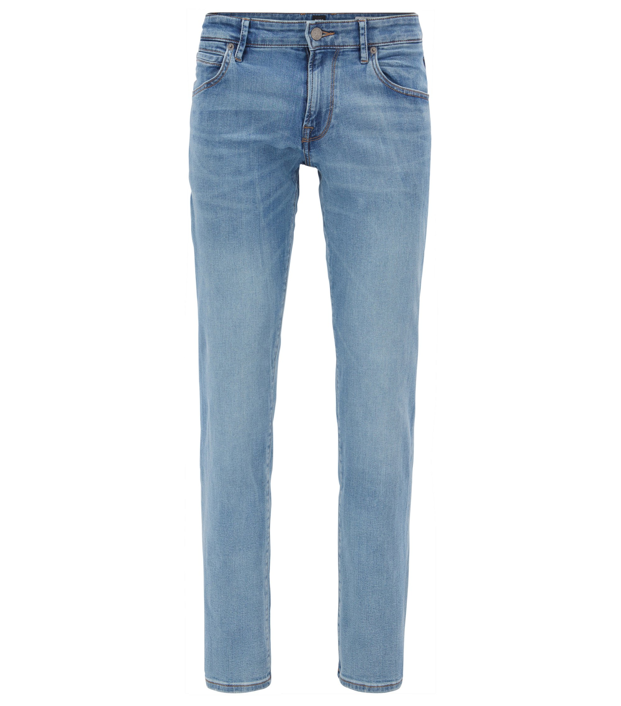 Jeans regular fit in denim super elasticizzato, Turchese