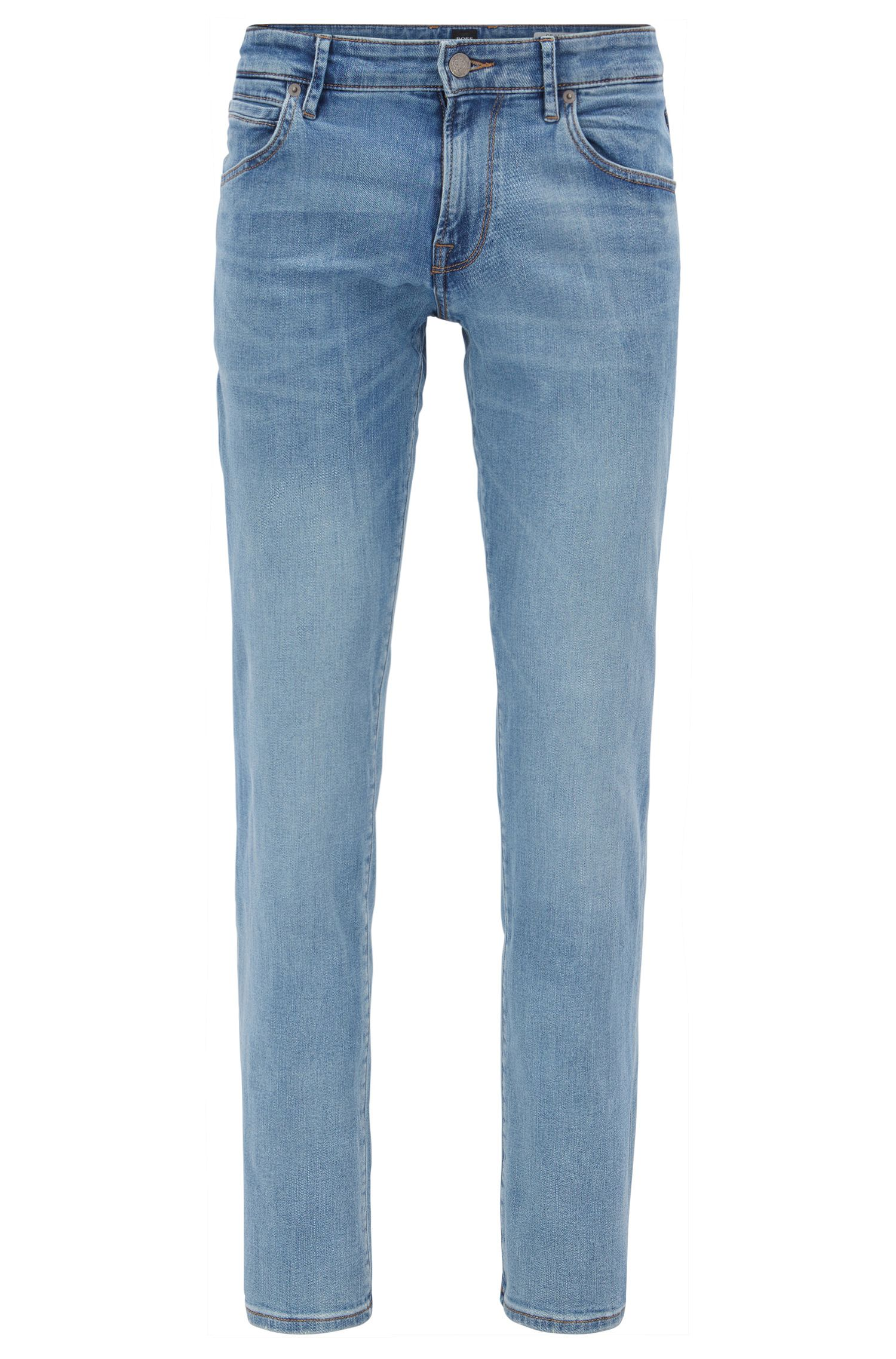 Jeans regular fit in denim super elasticizzato