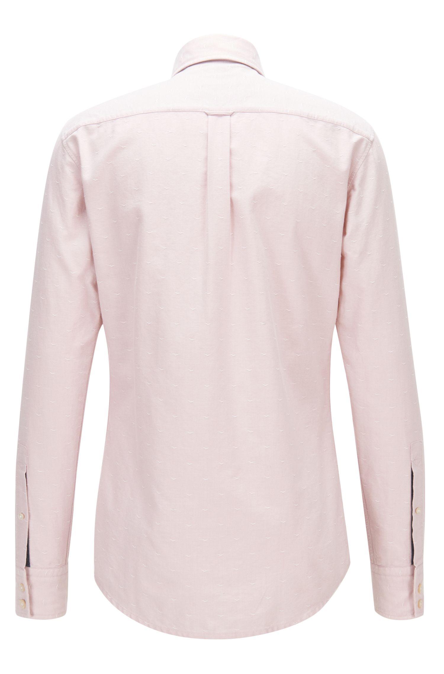 Slim-Fit Hemd aus strukturierter Oxford-Baumwolle