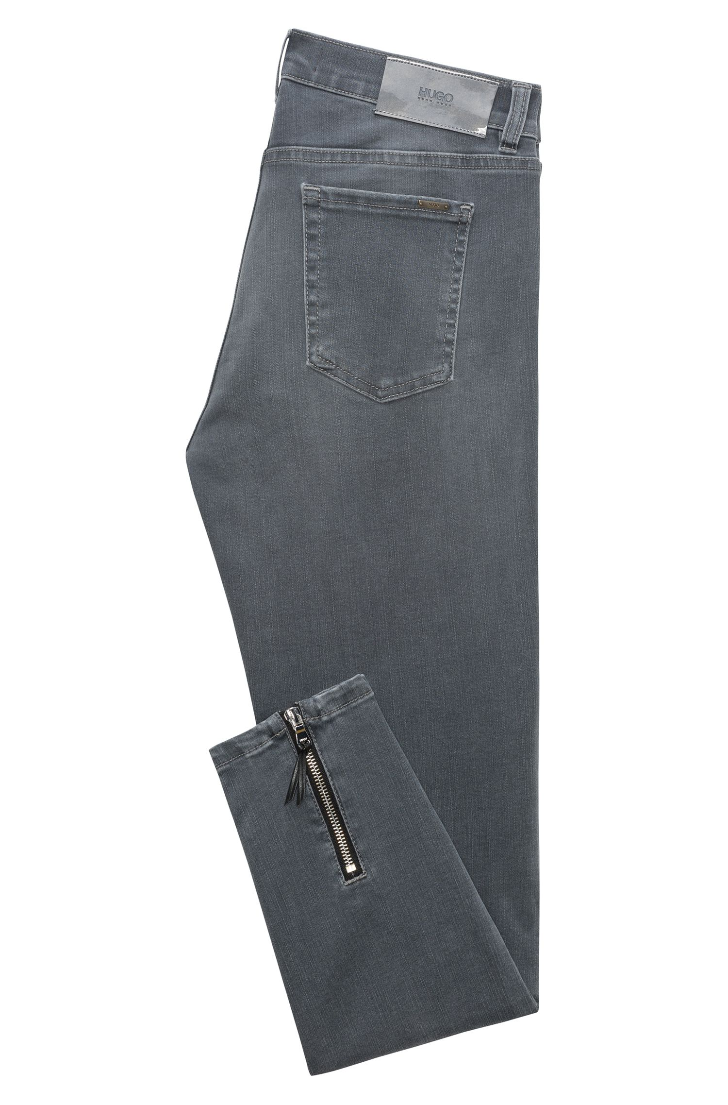 Jean Skinny Fit en denim super stretch gris