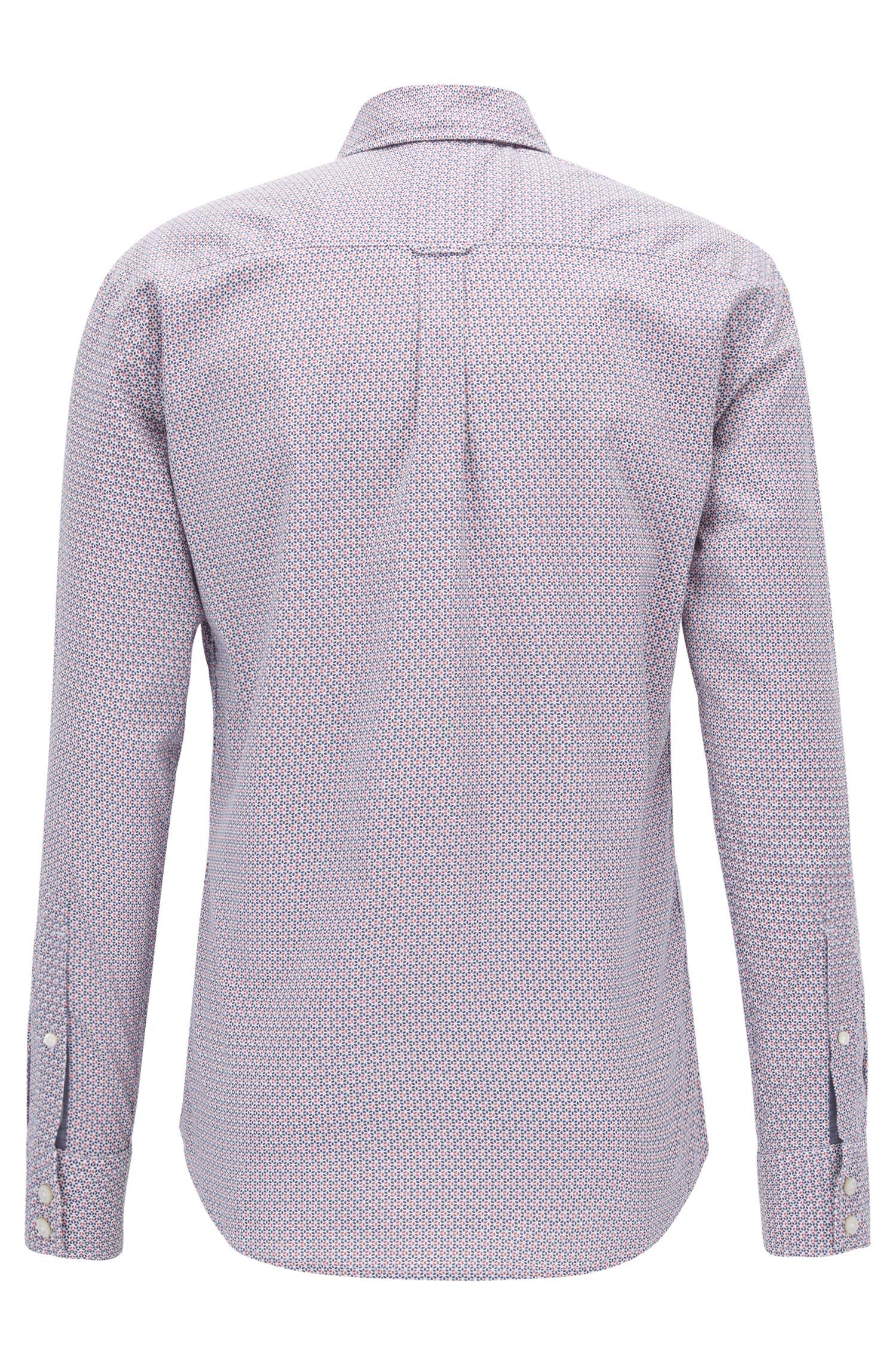 Slim-Fit Hemd aus Baumwoll-Popeline mit feinem Print