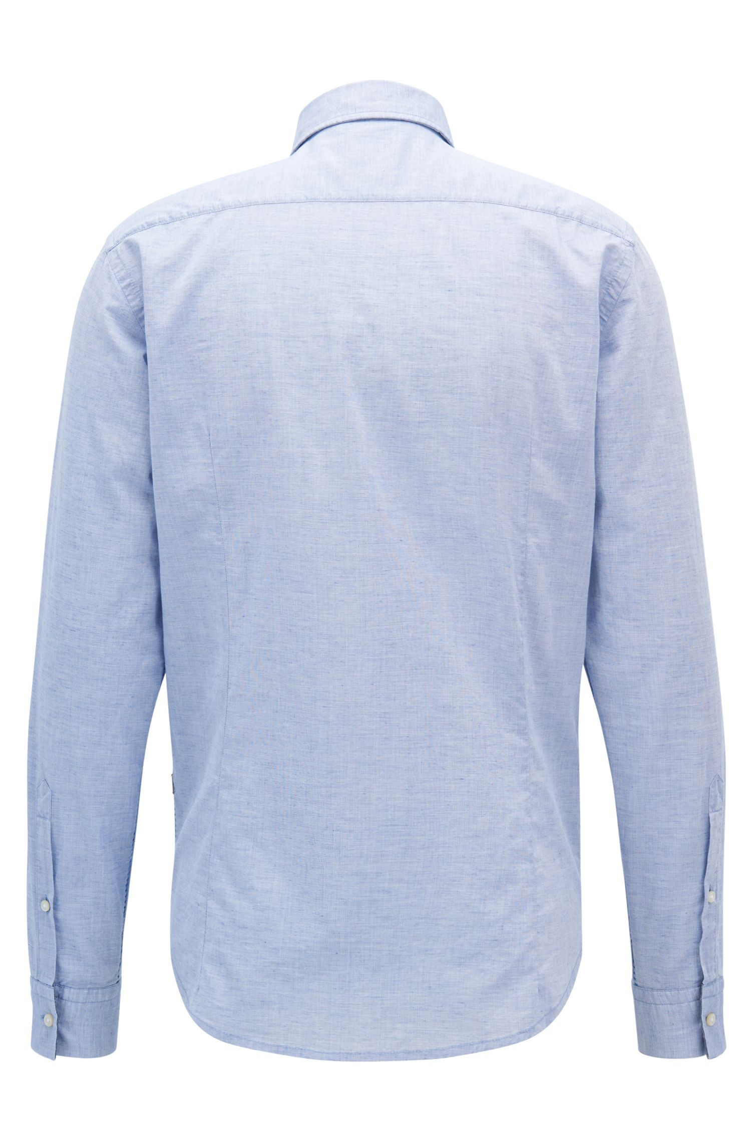 Slim-fit shirt in a structured cotton blend