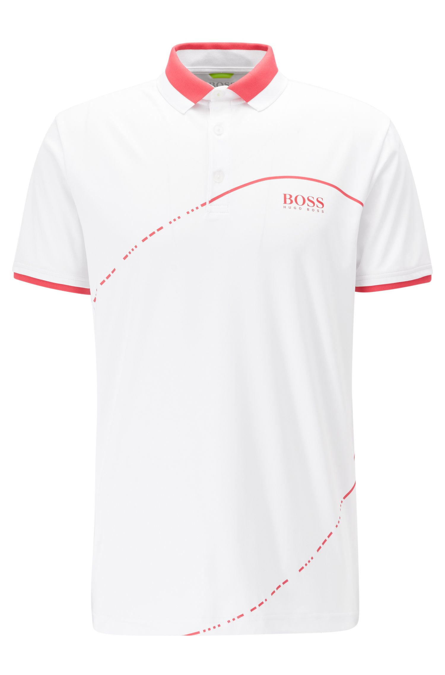 Polo shirt in technical fabric with S.Café®