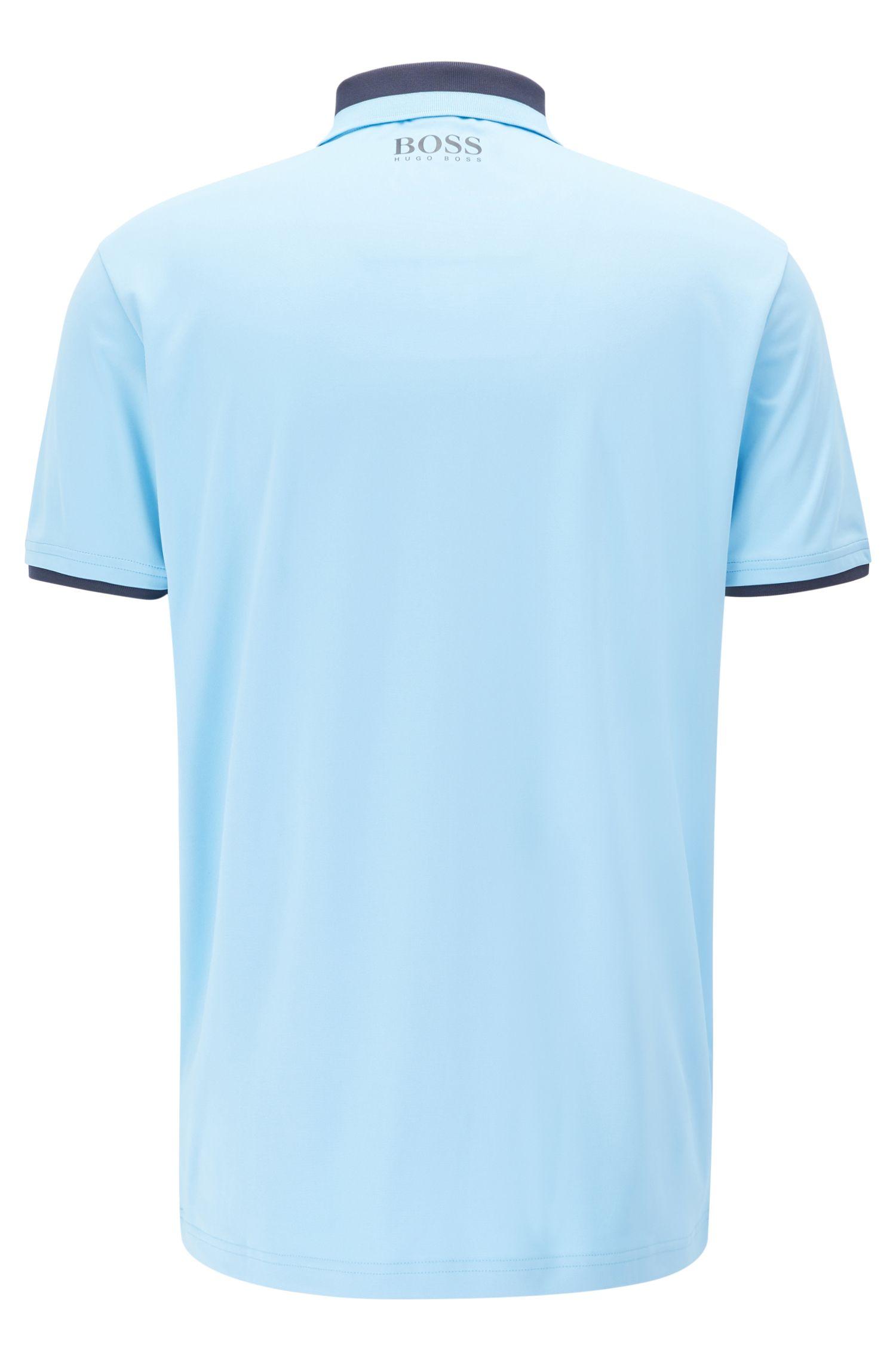 Poloshirt aus Material-Mix mit S.Café®-Technologie
