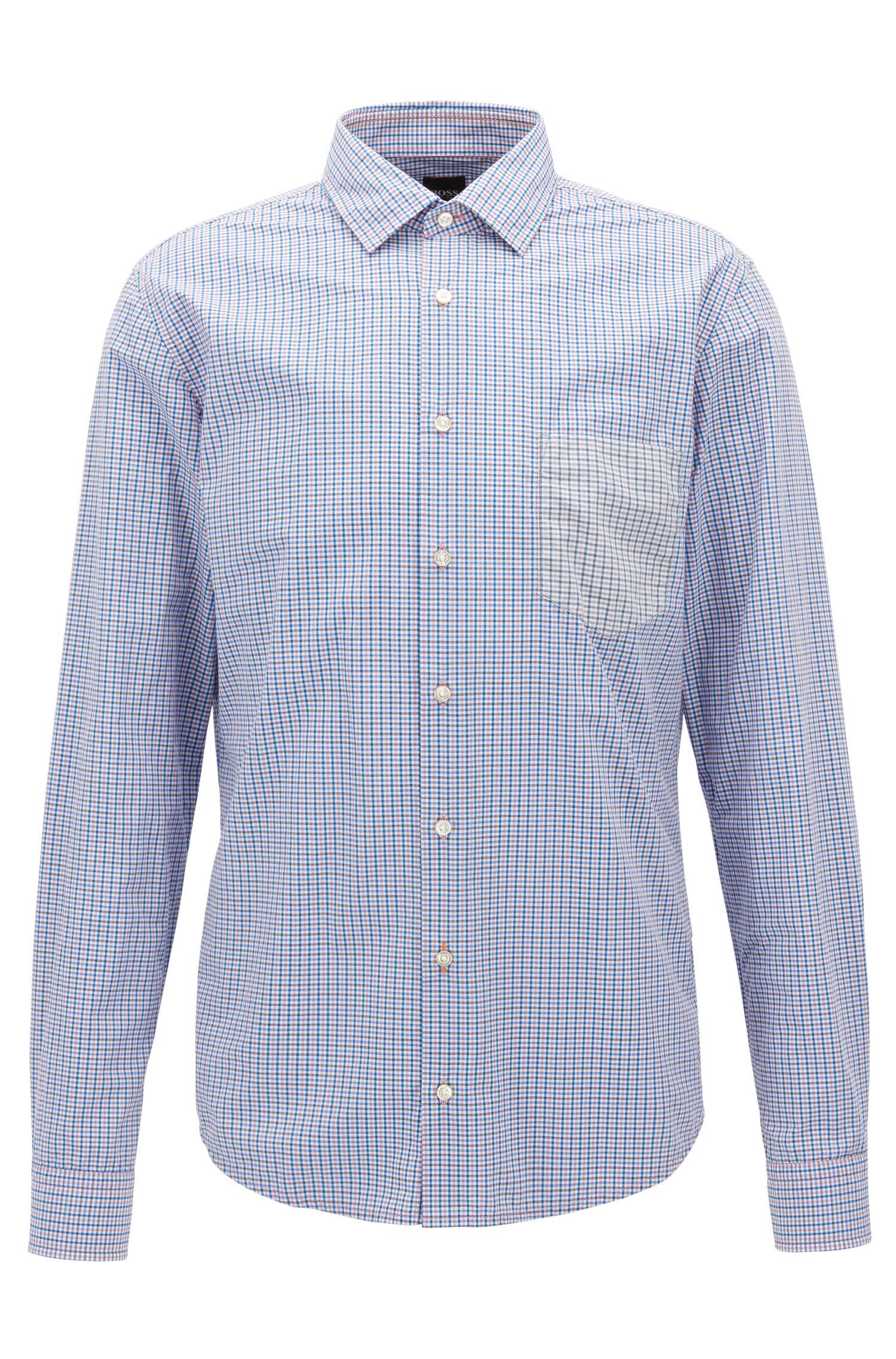 Slim-Fit Hemd aus Baumwolle mit Vichy-Karo